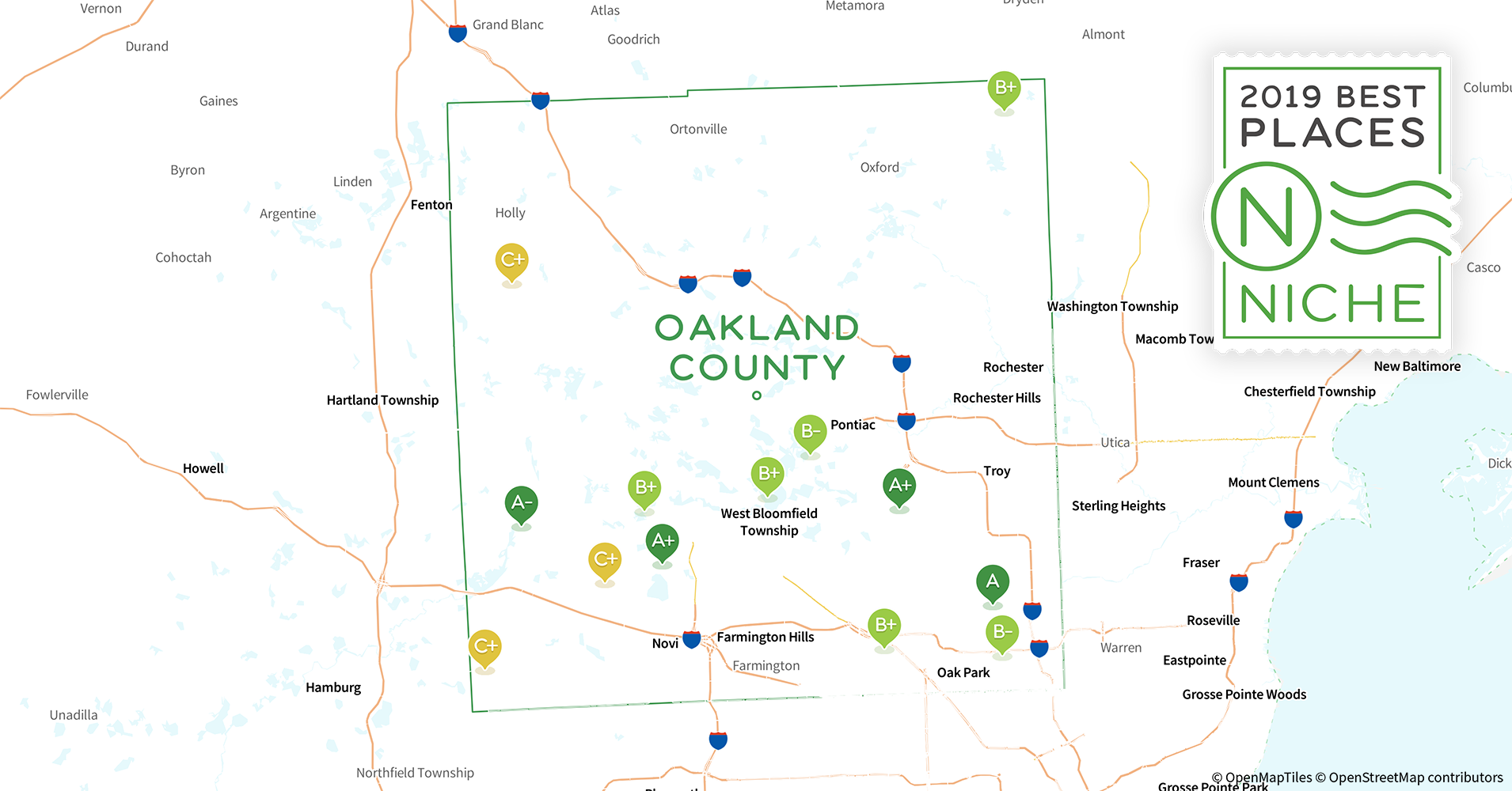 2019 Best Places to Live in Oakland County, MI - Niche