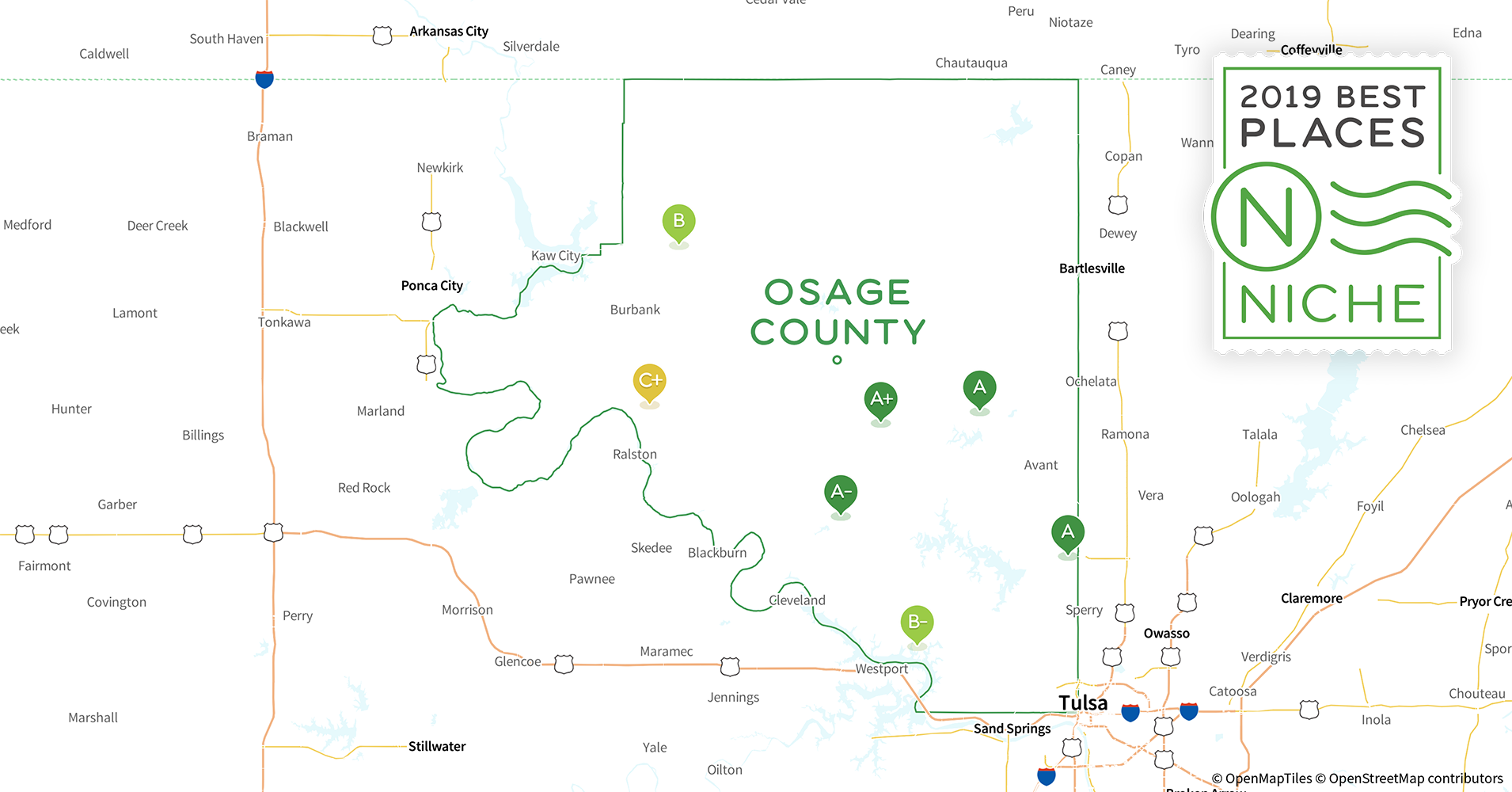 2019 Safe Places To Live In Osage County Ok Niche