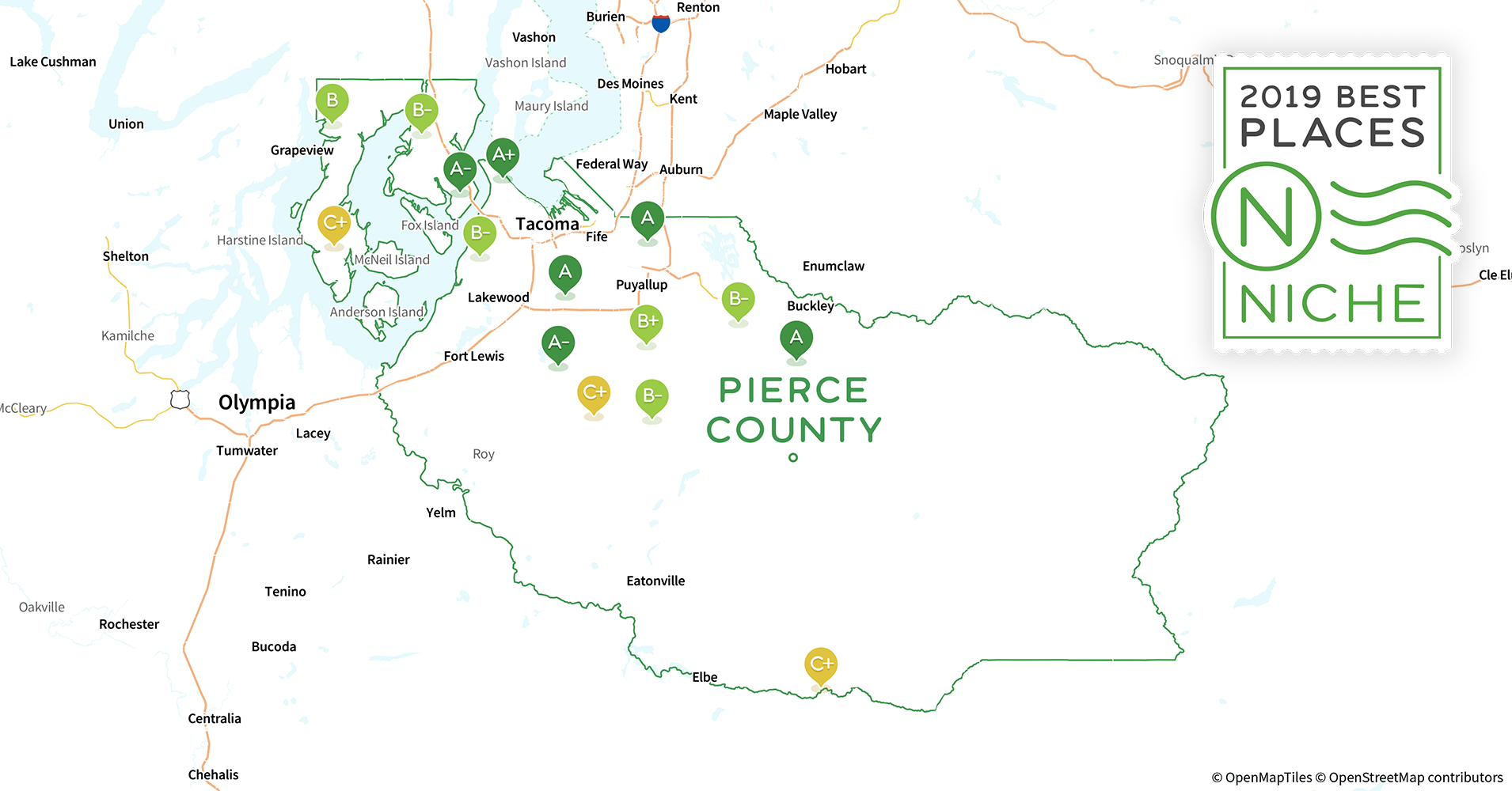 2019 Safe Places to Live in Pierce County, WA - Niche