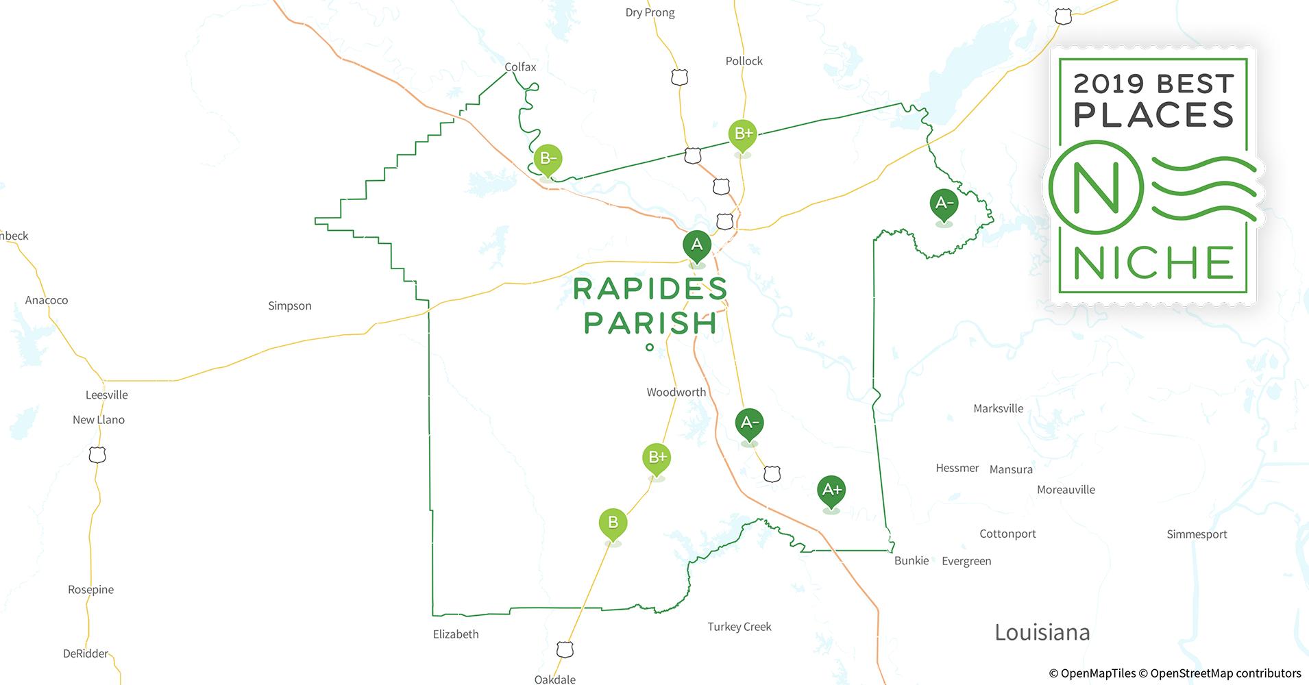 Alexandria Louisiana Zip Code Map.2019 Best Places To Live In Rapides Parish La Niche