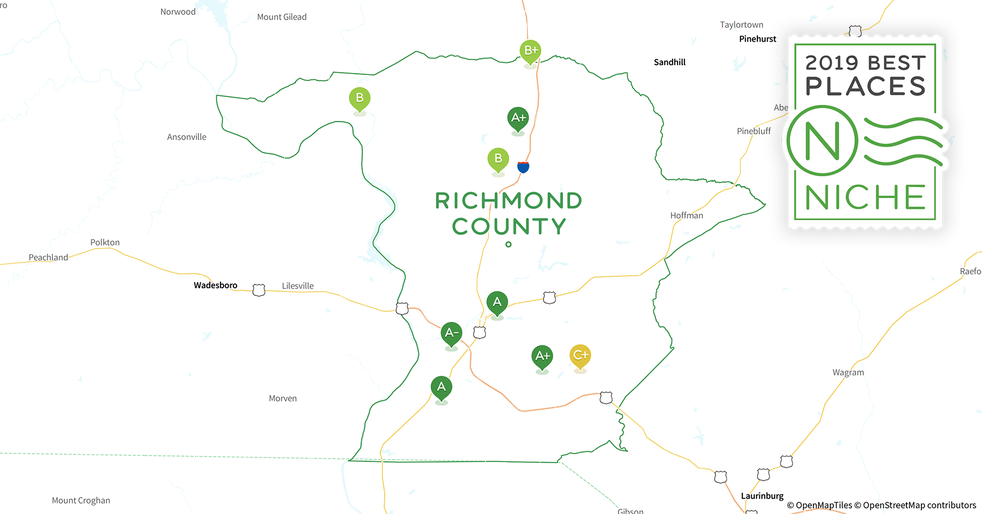 Richmond County Nc Map.2019 Best Places To Live In Richmond County Nc Niche