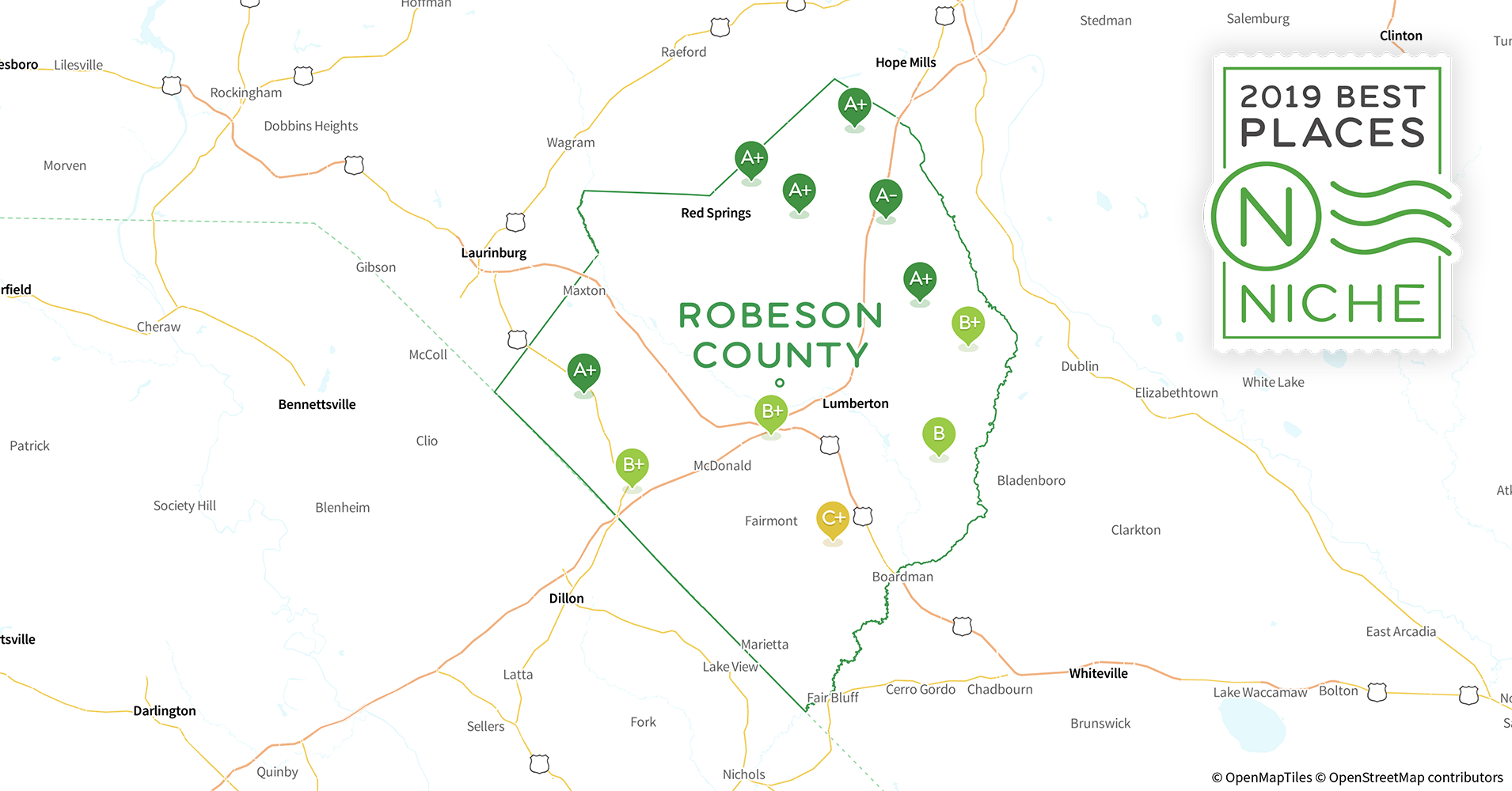 2019 Safe Places To Live In Robeson County Nc Niche