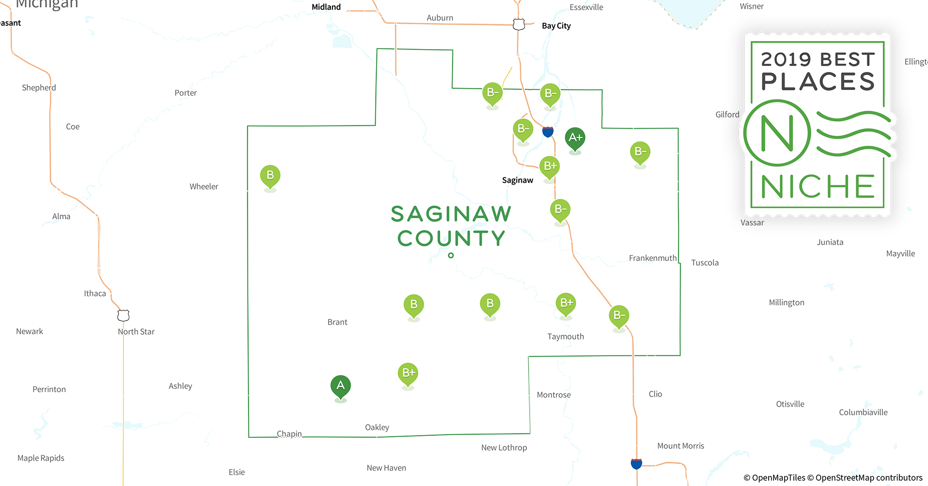Saginaw Mi Zip Code Map.2019 Best Places To Live In Saginaw County Mi Niche