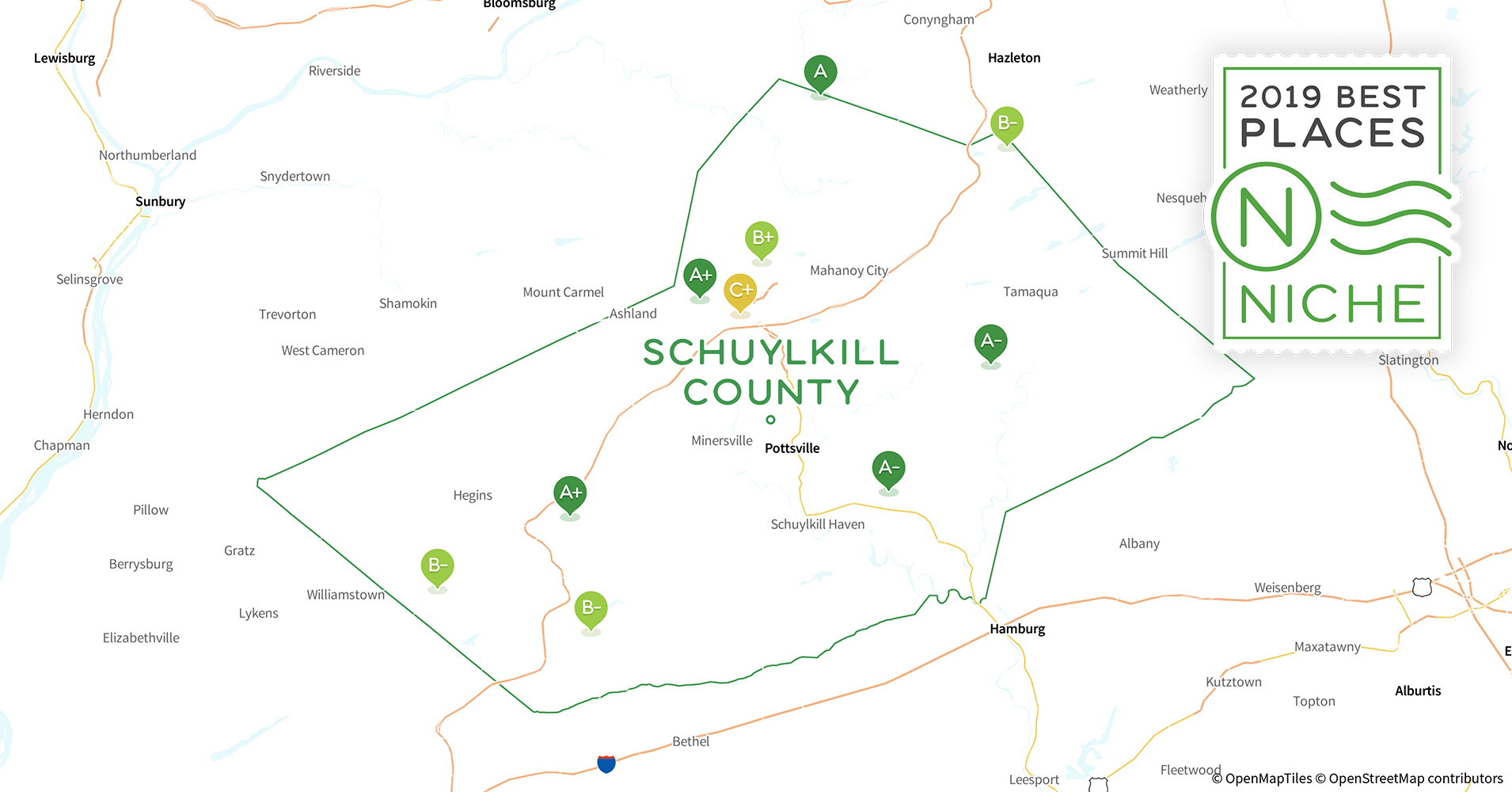 2019 Best Places to Live in Schuylkill County, PA - Niche Map Of Cities Near Philadelphia Pa on city of dover pa, map of 19124, map of center city pa, map of pa towns, map of west philly pa, map of cities surrounding philadelphia pennsylvania, map of phila metro area, new york city on a map of pa, road map of phila pa,