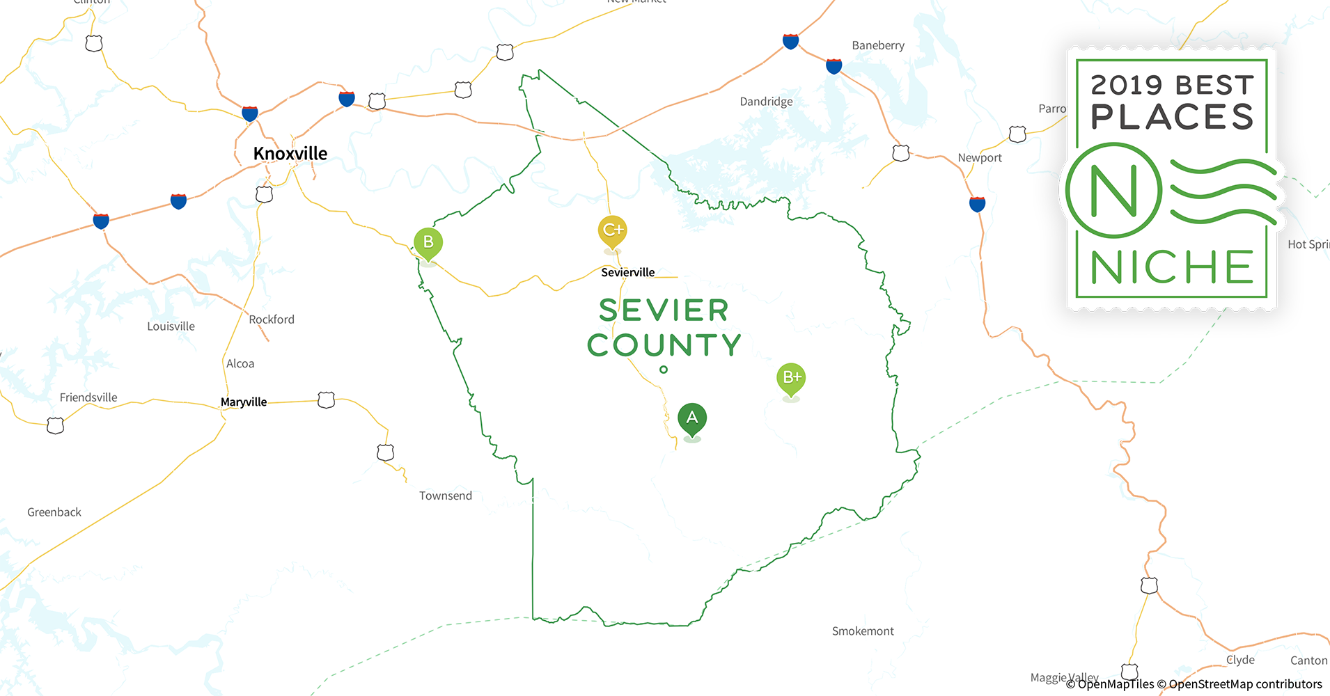 2019 Best Places to Live in Sevier County, TN - Niche Map Of Cities Near Gatlinburg Tn on