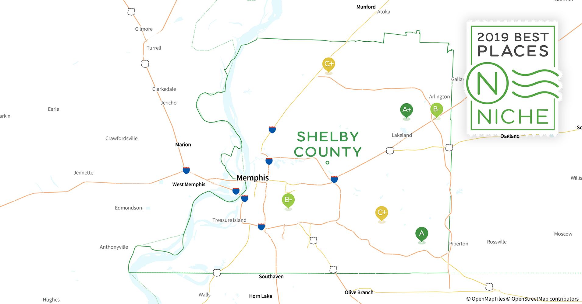 2019 Best Places To Live In Shelby County Tn Niche