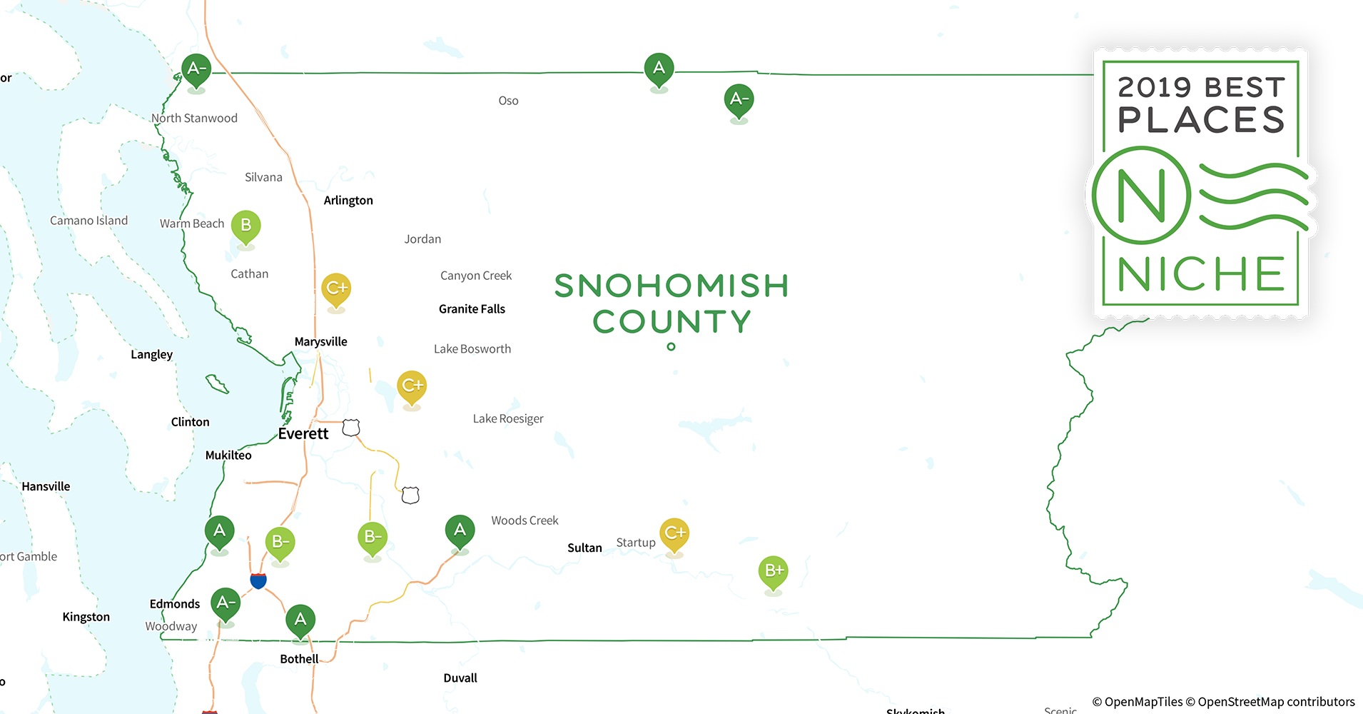 Marysville Wa Zip Code Map.2019 Safe Places To Live In Snohomish County Wa Niche