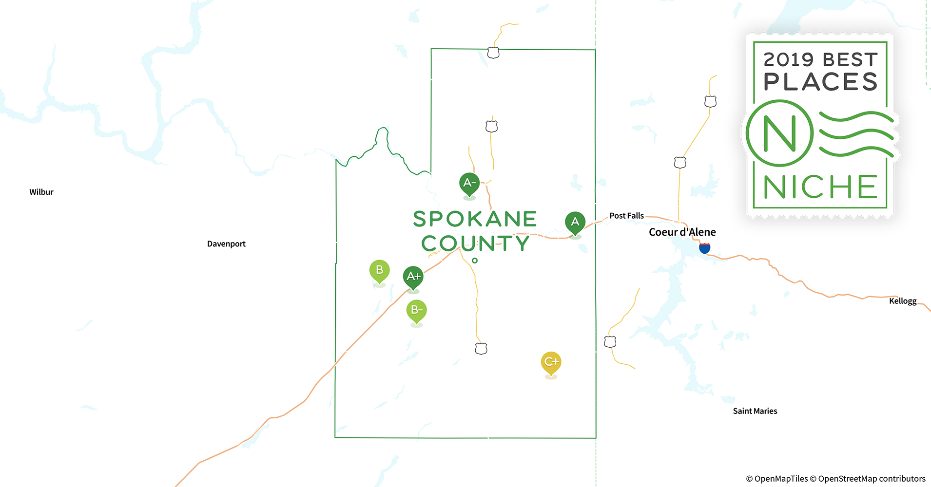 2019 Best Places To Live In Spokane County Wa Niche