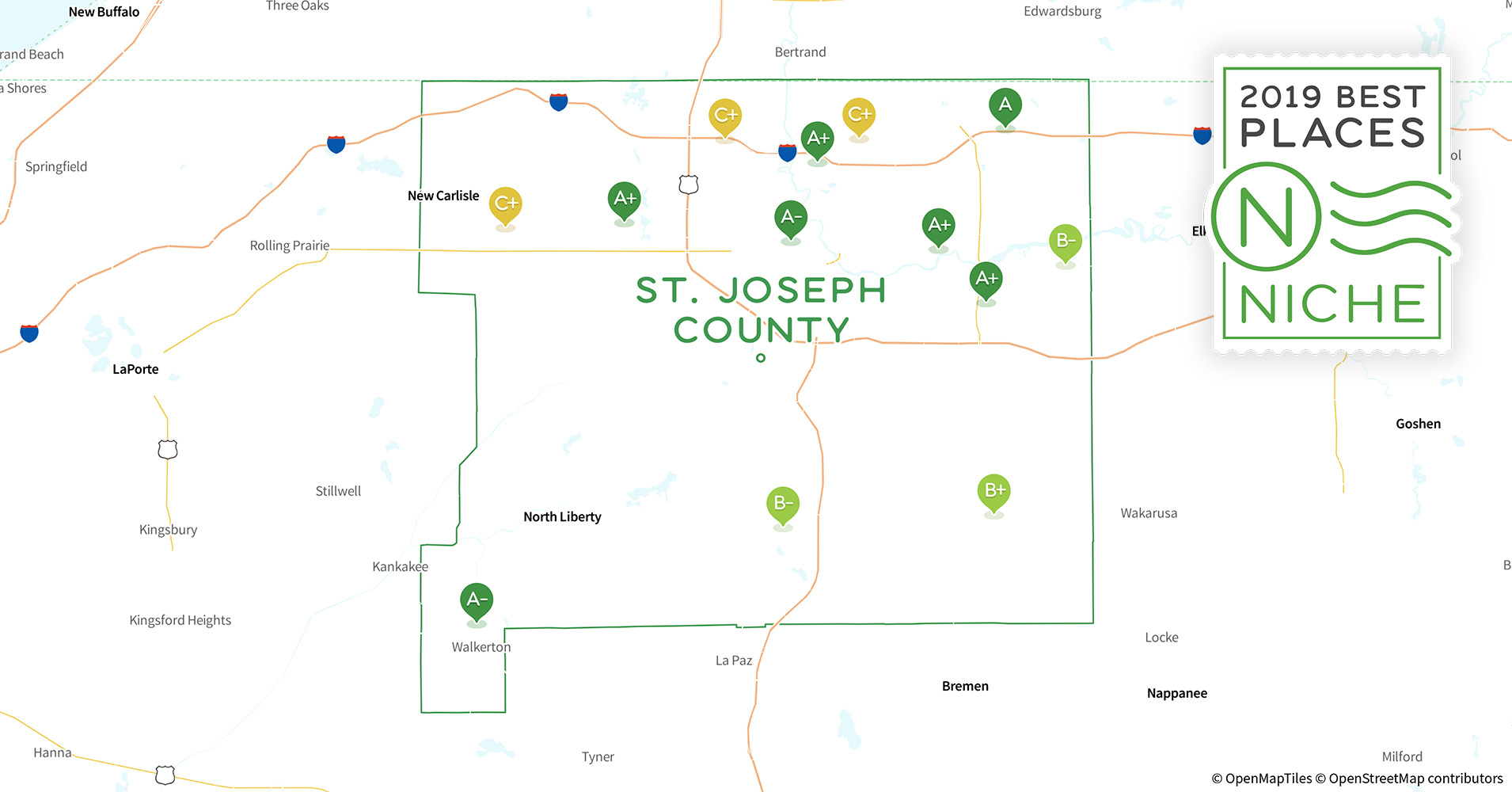 South Bend Indiana Zip Code Map.2019 Best Places To Live In St Joseph County In Niche