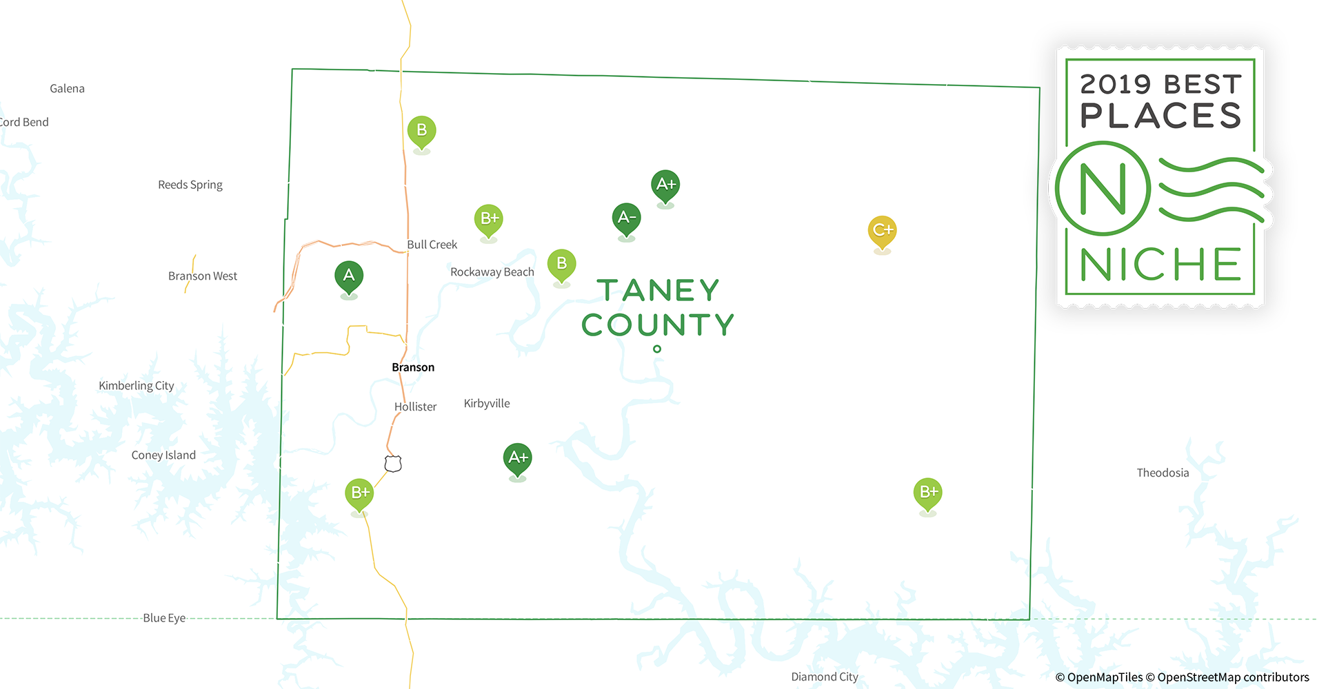 Branson Missouri Map Attractions.2019 Best Places To Live In Taney County Mo Niche