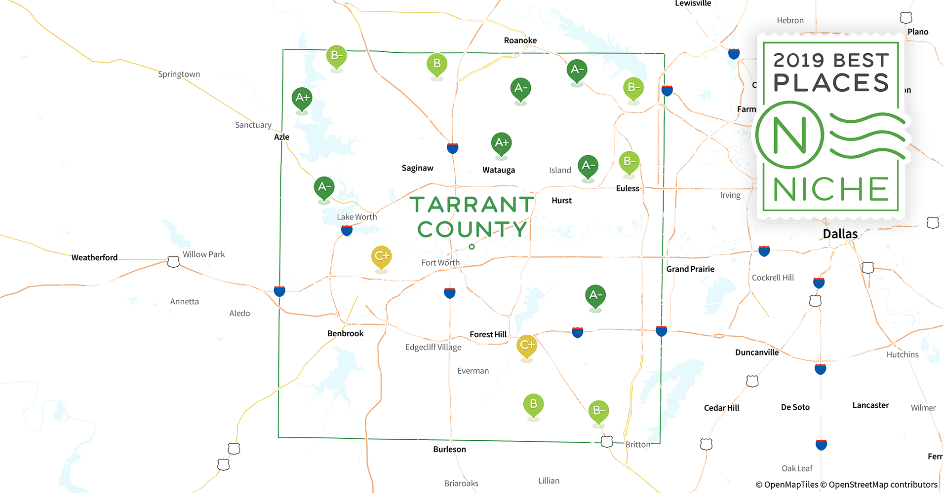 2019 Safe Places to Live in Tarrant County, TX - Niche
