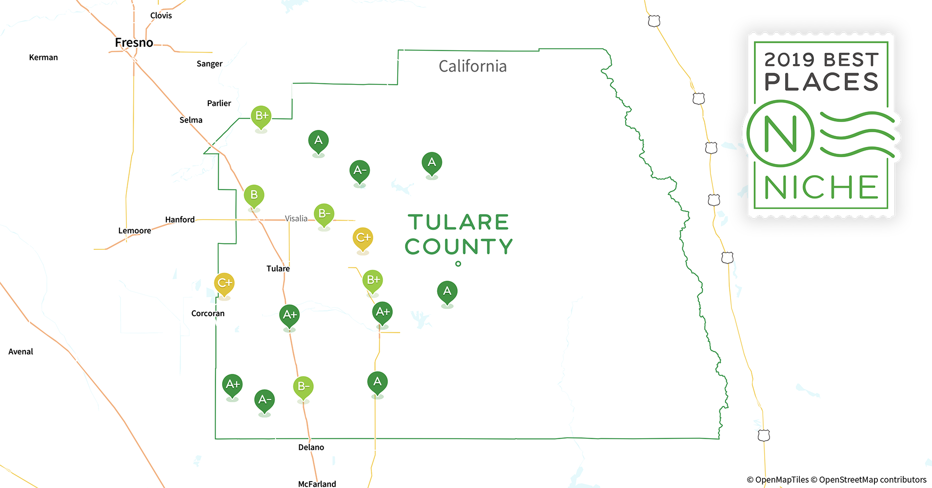 2019 best places to live in tulare county  ca