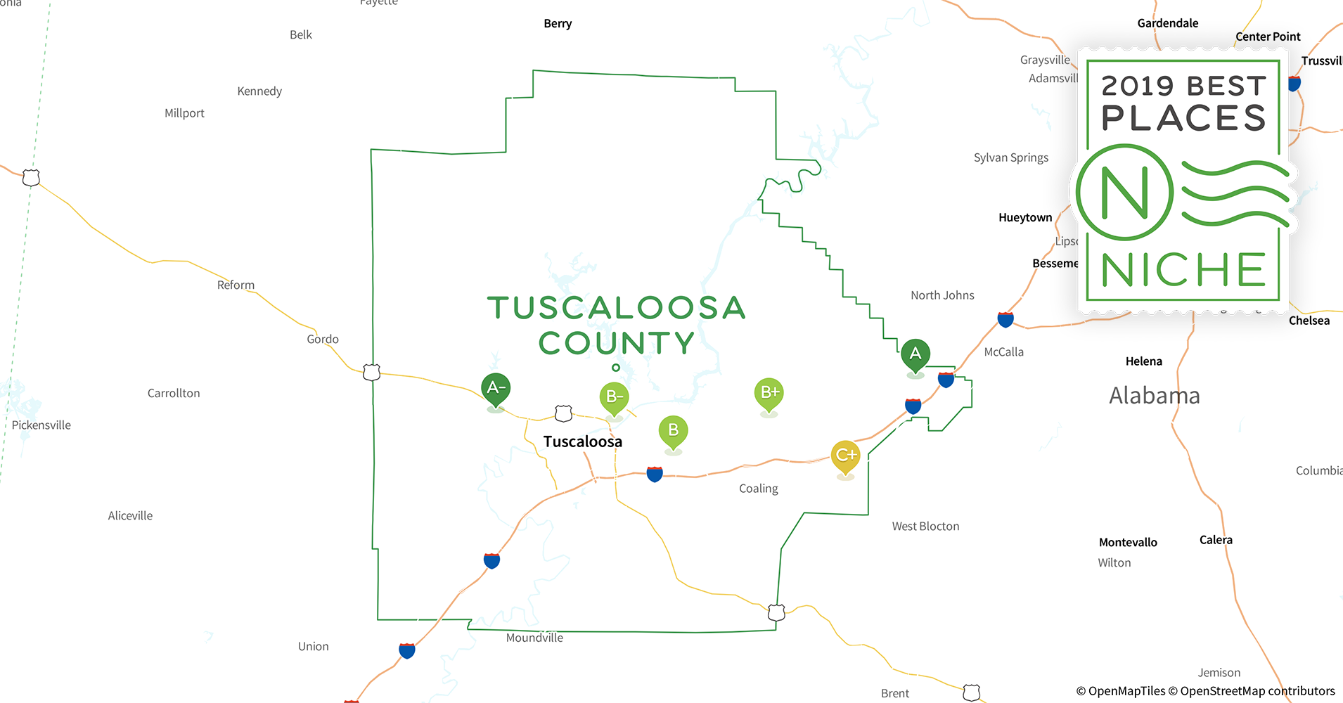 2019 Safe Places to Live in Tuscaloosa County, AL - Niche In Tuscaloosa County On Map on wilmington county map, tuscaloosa murder, dahlonega county map, geneva county map, charlottesville county map, tuscaloosa city, marion county map, ann arbor county map, lake stevens county map, bowling green county map, winston county map, alabama map, high point county map, south bend county map, little rock county map, fort wayne county map, beverly hills county map, crenshaw county map, northwest ga county map, dayton county map,