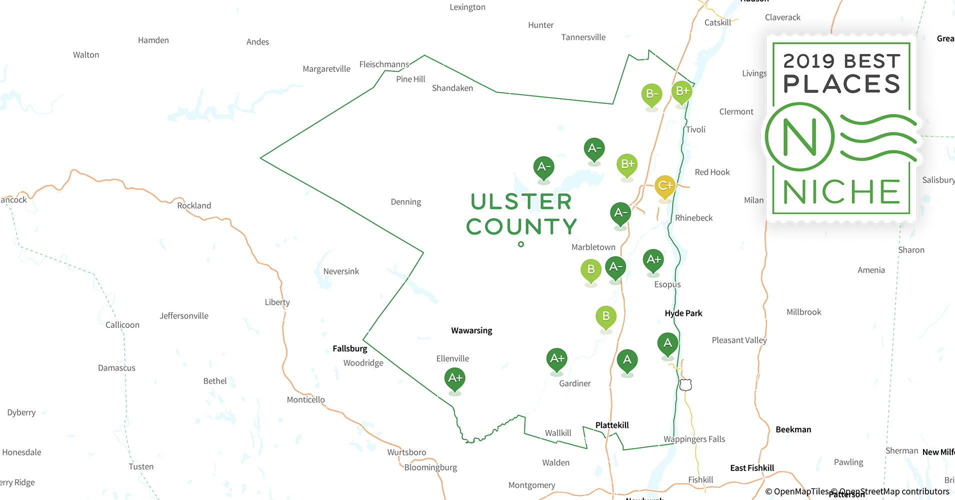 Ulster County New York Map.2019 Best Places To Live In Ulster County Ny Niche