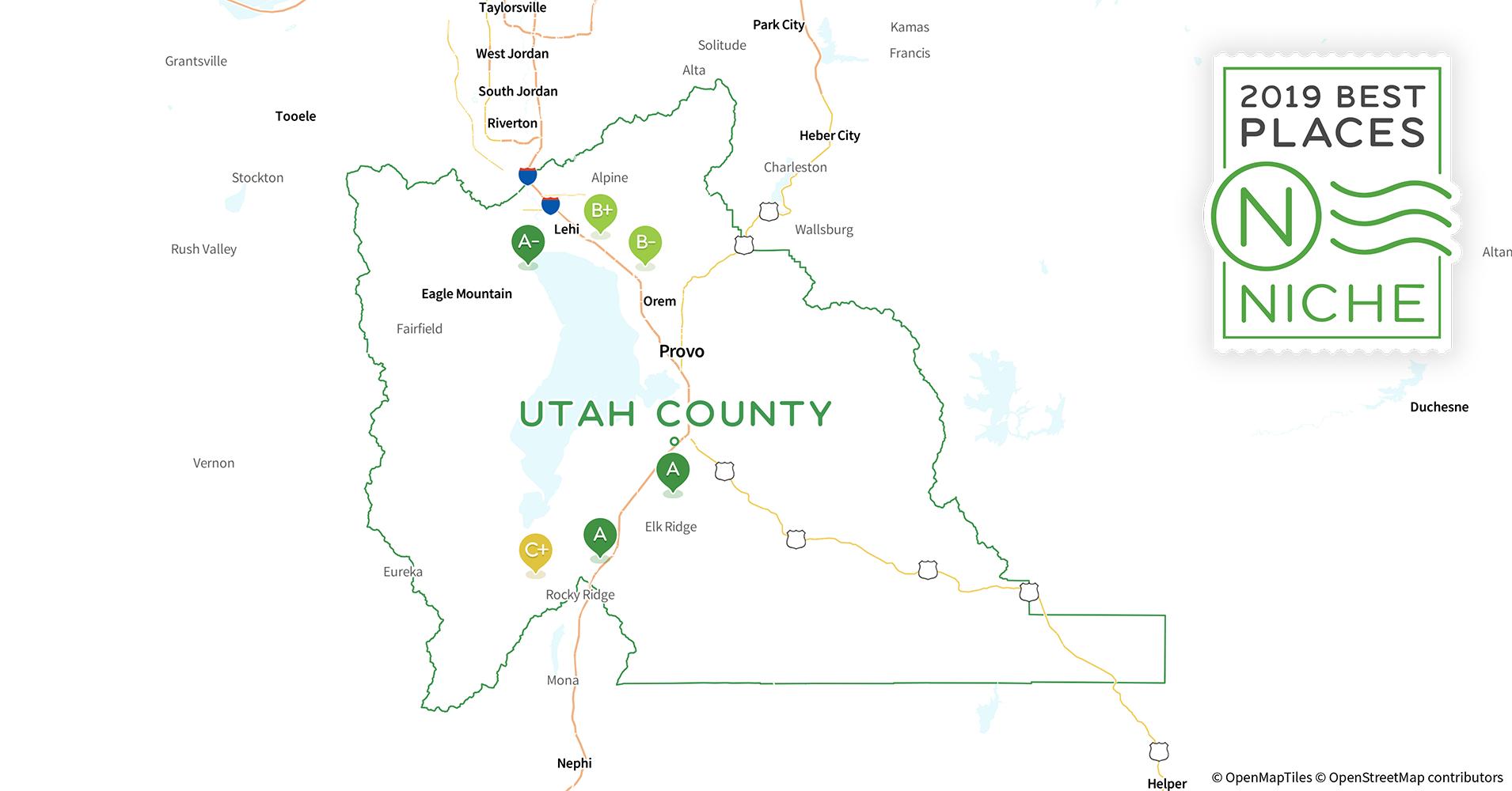 Orem Utah Zip Code Map.2019 Best Places To Live In Utah County Ut Niche