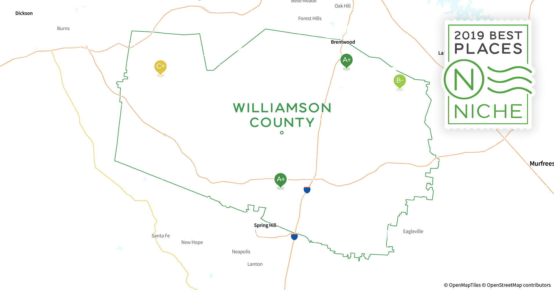 2019 Best Places to Buy a House in Williamson County, TN - Niche