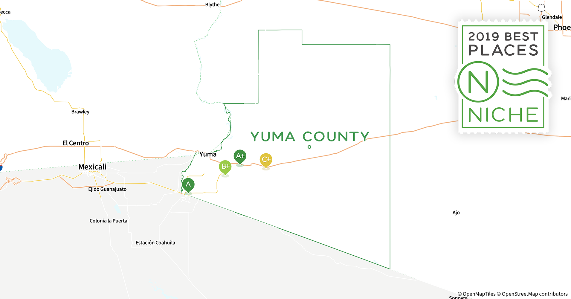 Street Map Of Yuma Arizona.2019 Best Places To Live In Yuma County Az Niche