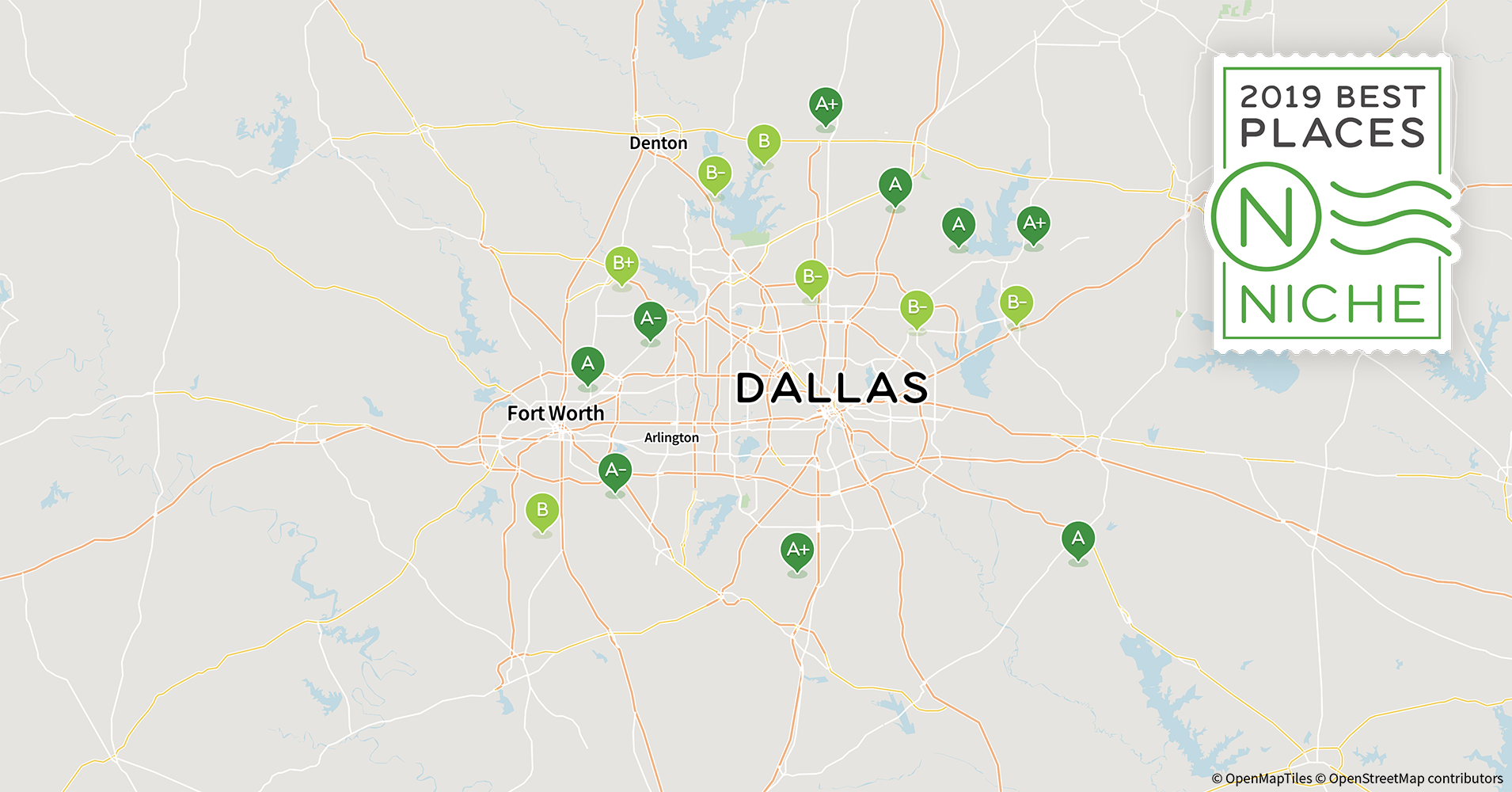 2019 Safe Neighborhoods in Dallas-Fort Worth Area - Niche