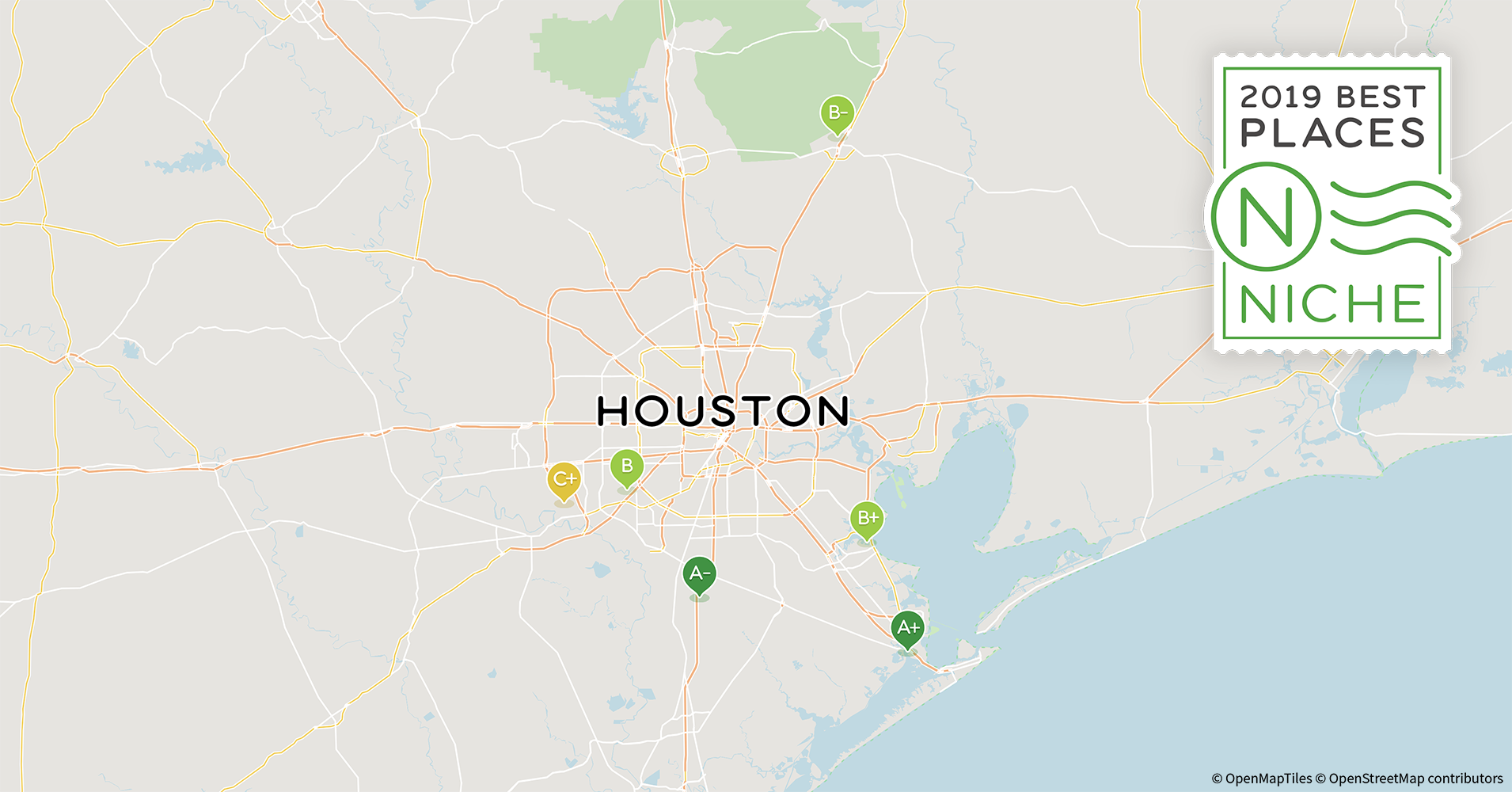 2019 Safe Neighborhoods in Houston Area - Niche