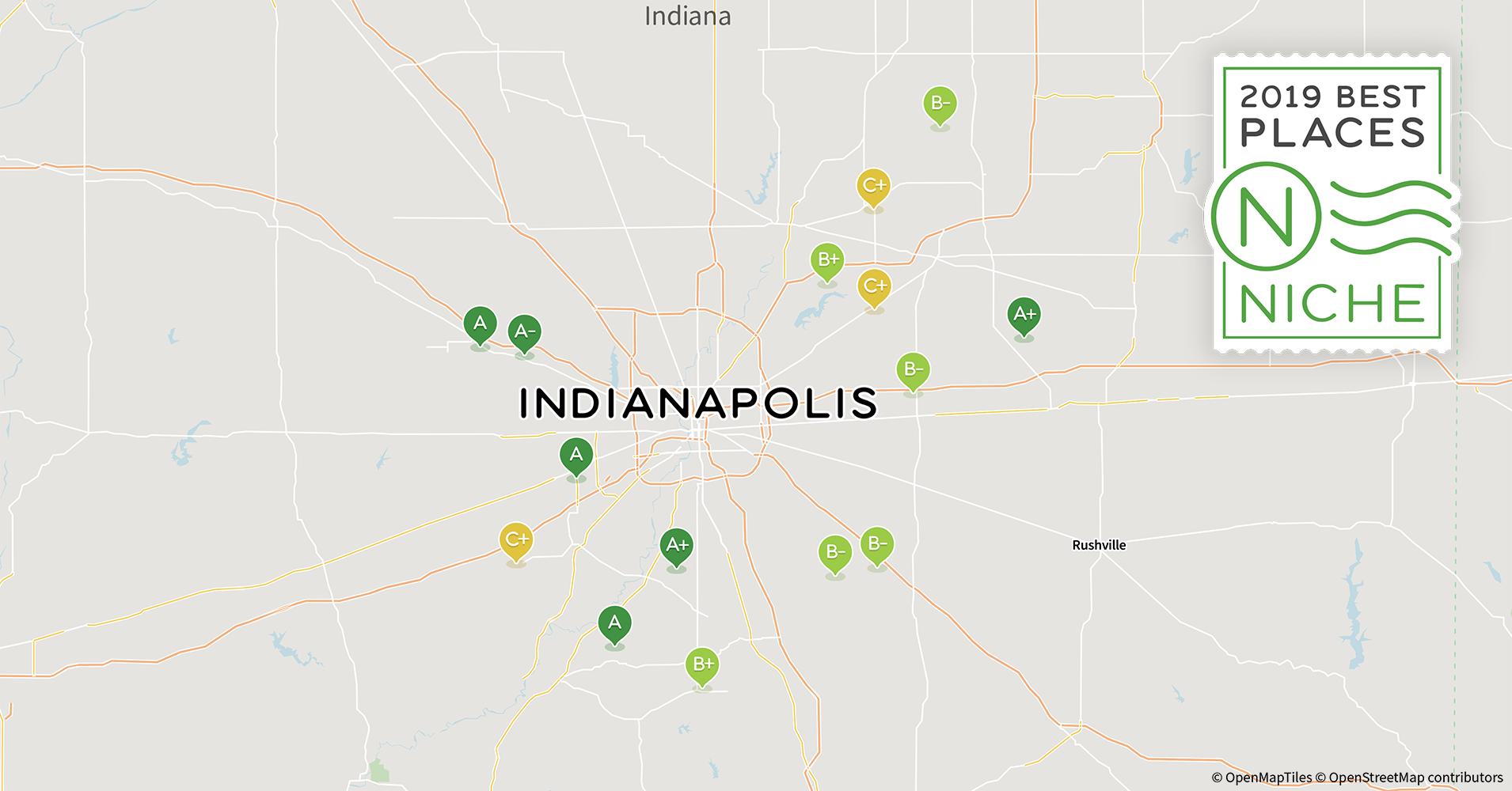 2019 Best Neighborhoods to Live in Indianapolis Area - Niche Indianapolis Neighborhood Map on