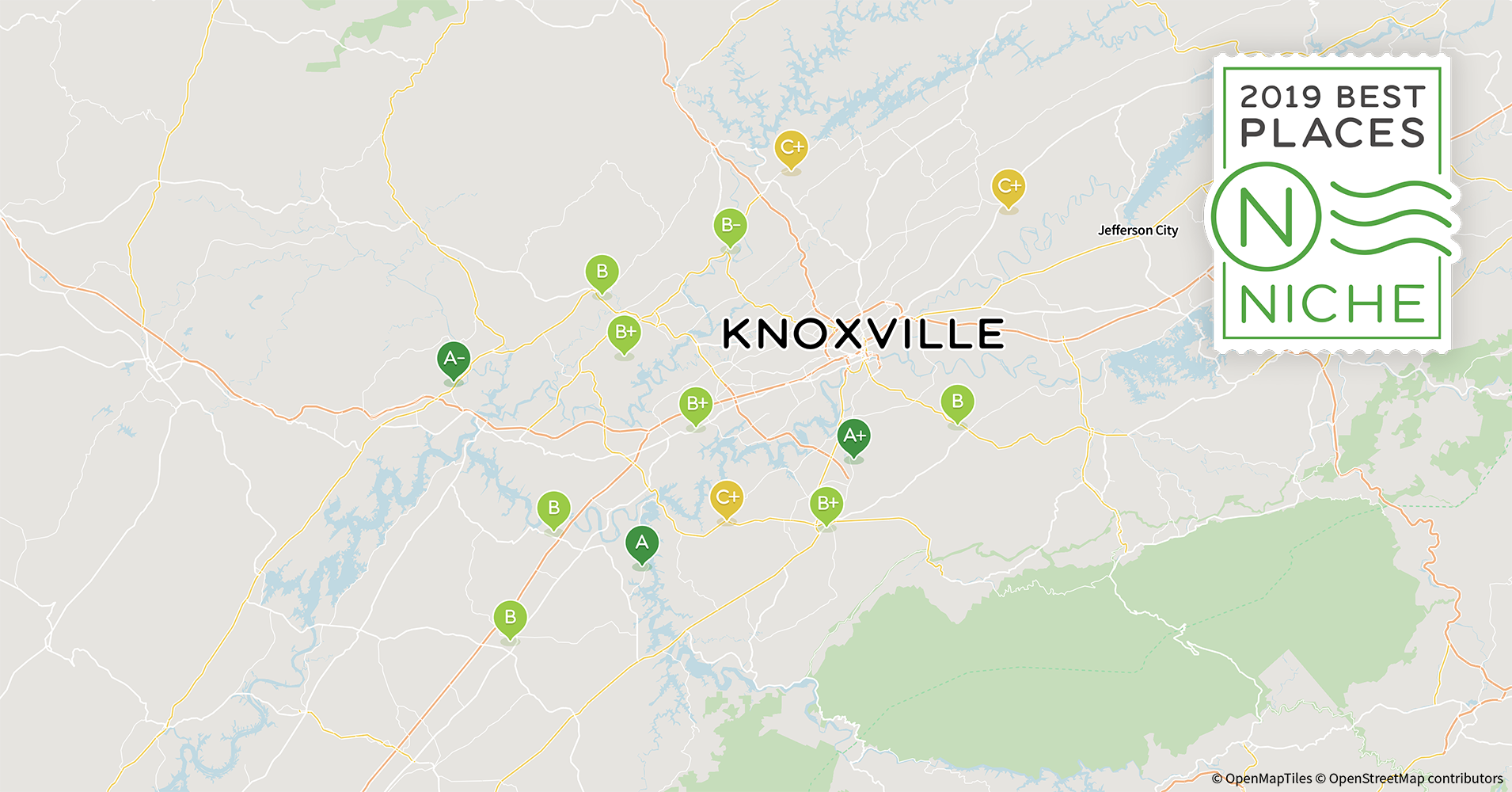 2019 Safe Places to Live in Knoxville Area - Niche