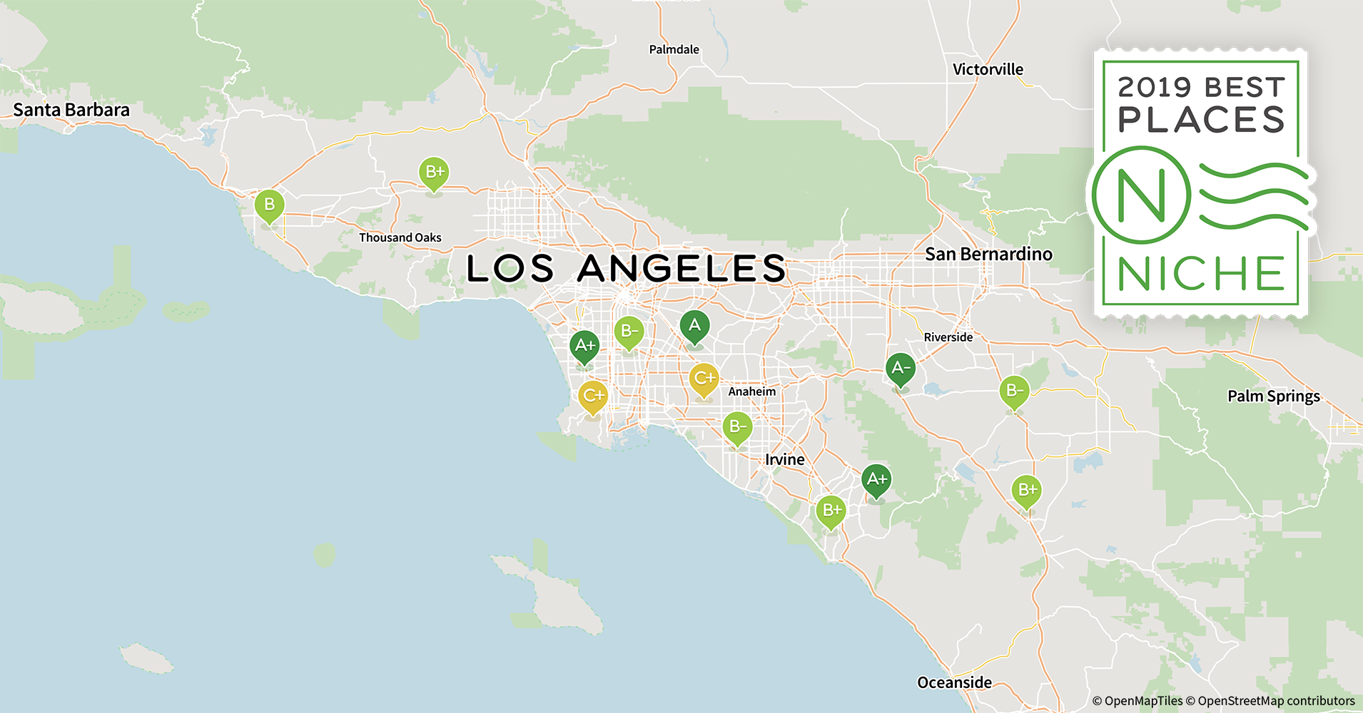 2019 best los angeles area suburbs to live - niche