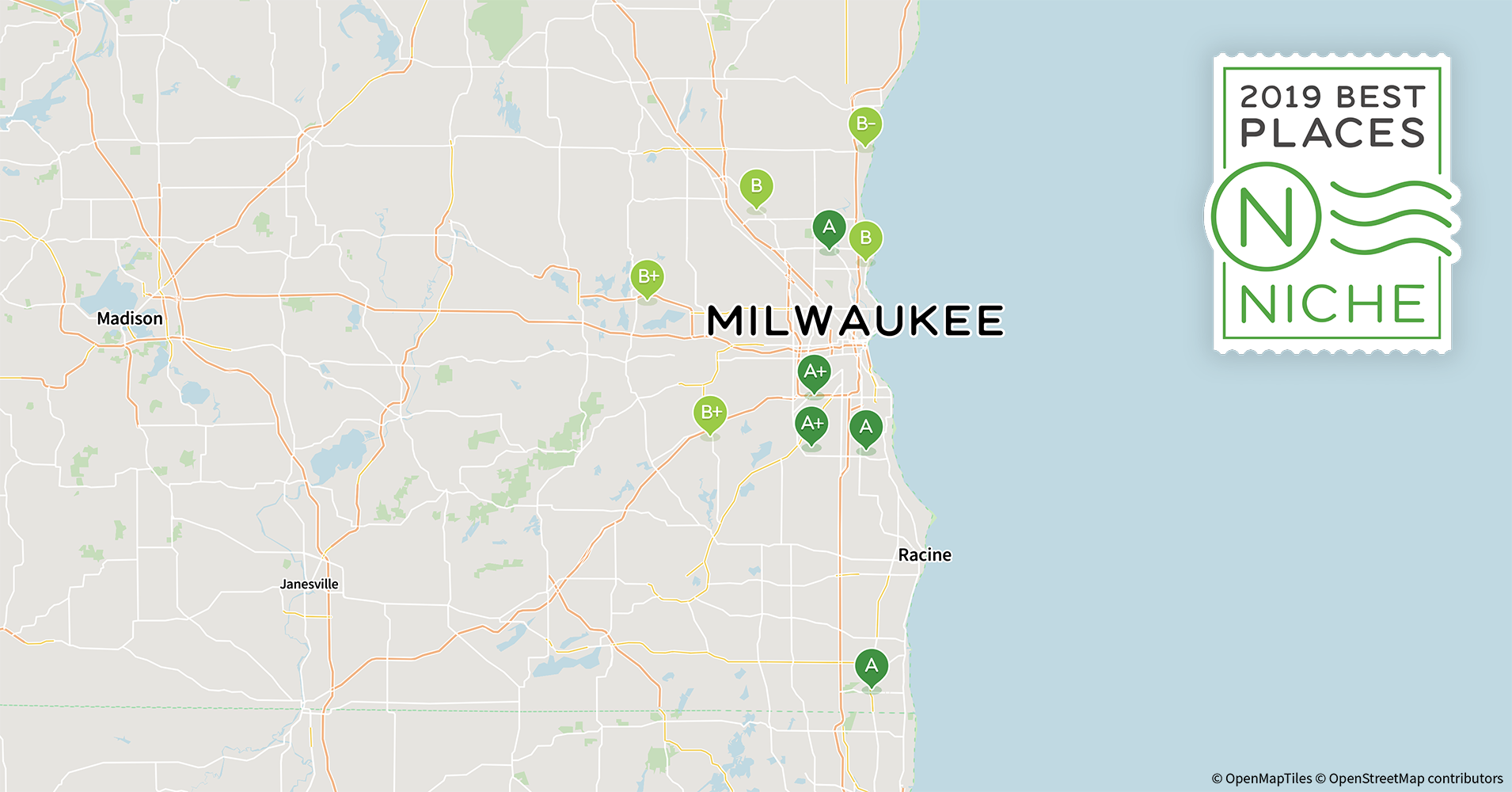 53209 Zip Code Map.2019 Safe Suburbs Of Milwaukee Area Niche