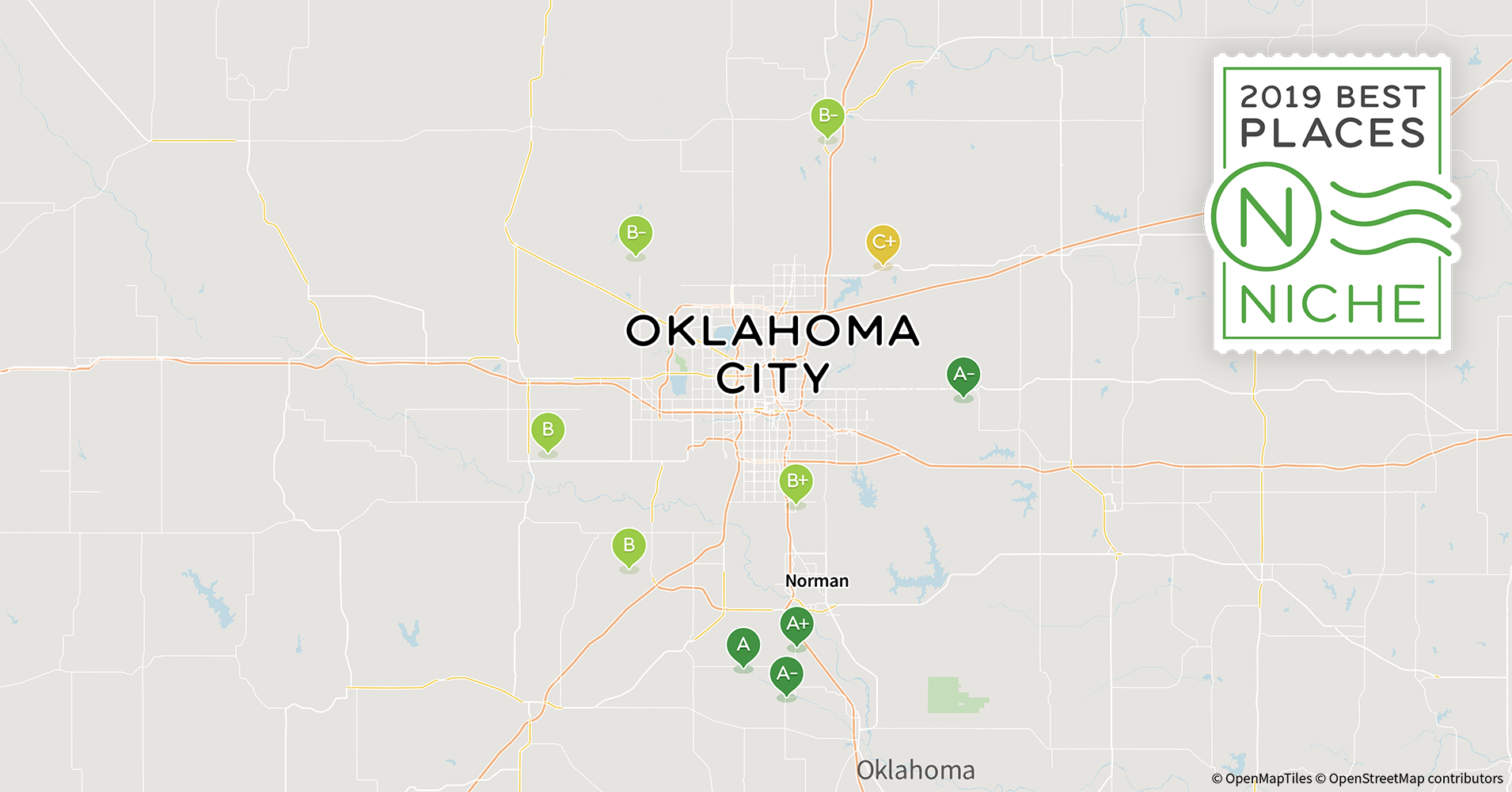 Norman Zip Code Map.2019 Best Oklahoma City Area Suburbs For Families Niche