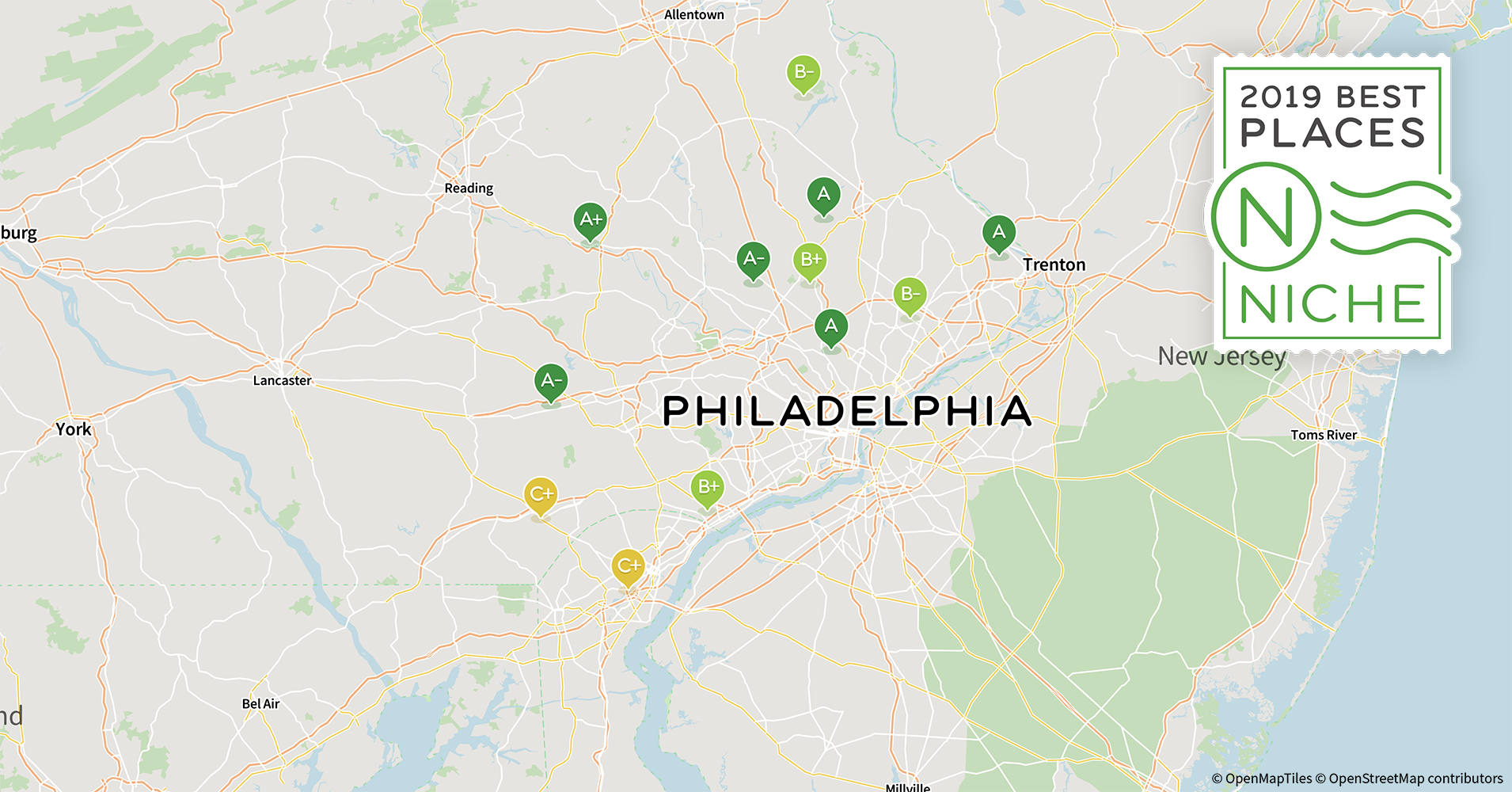 2019 Best Philadelphia Area Suburbs to Live - Niche Map Of Cities In Southern Pa on map of western pa cities, map of eastern ohio and western pennsylvania, map of southern ca cities, map of southern pa counties, west virginia major cities, map of northern ohio southern michigan,