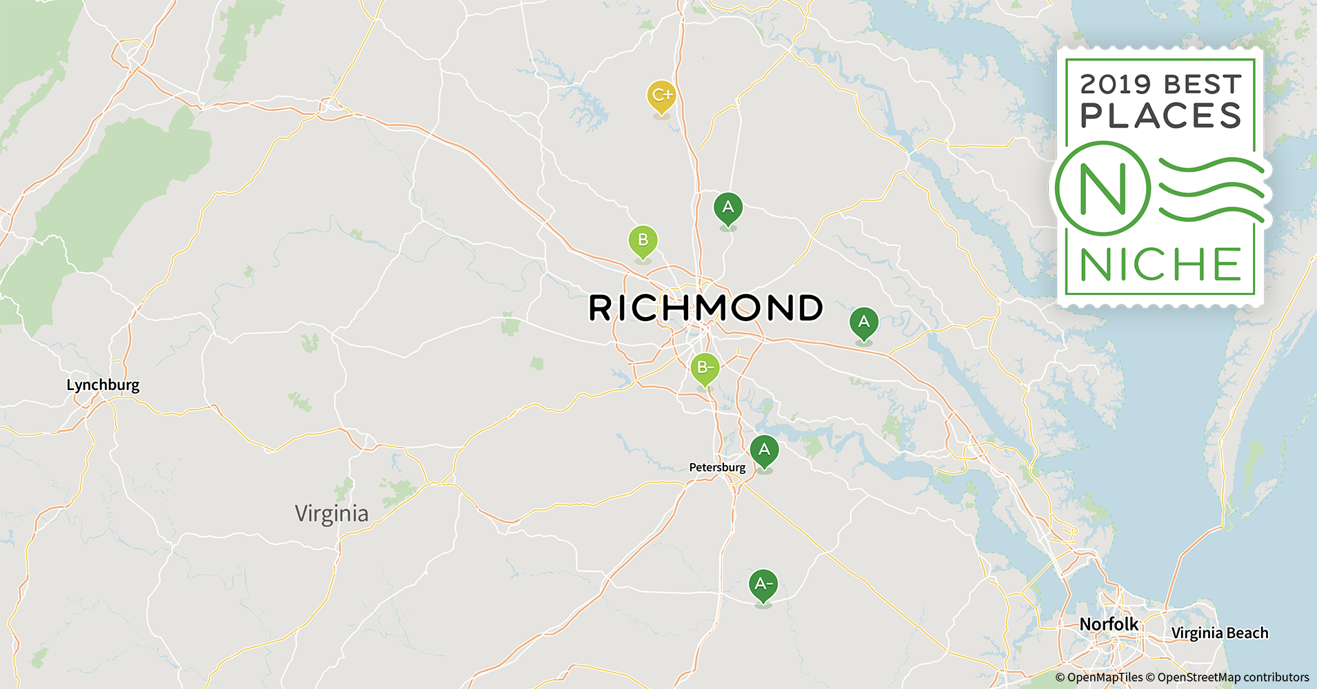 2019 Best Richmond Area Suburbs to Live - Niche I Map Of Cities In Virginia on map of cities by virginia, thomas charles city county virginia, street map virginia, map of mountains in virginia,