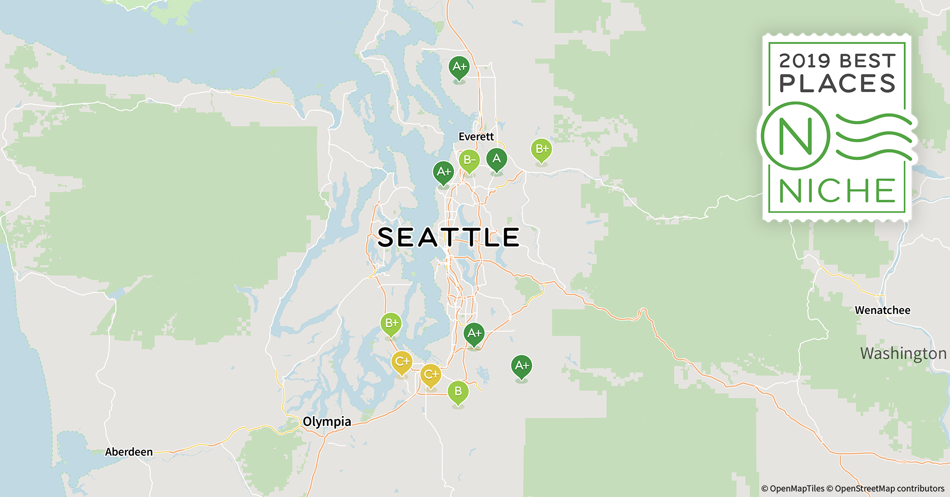 2019 Best Seattle Area Suburbs to Live - Niche