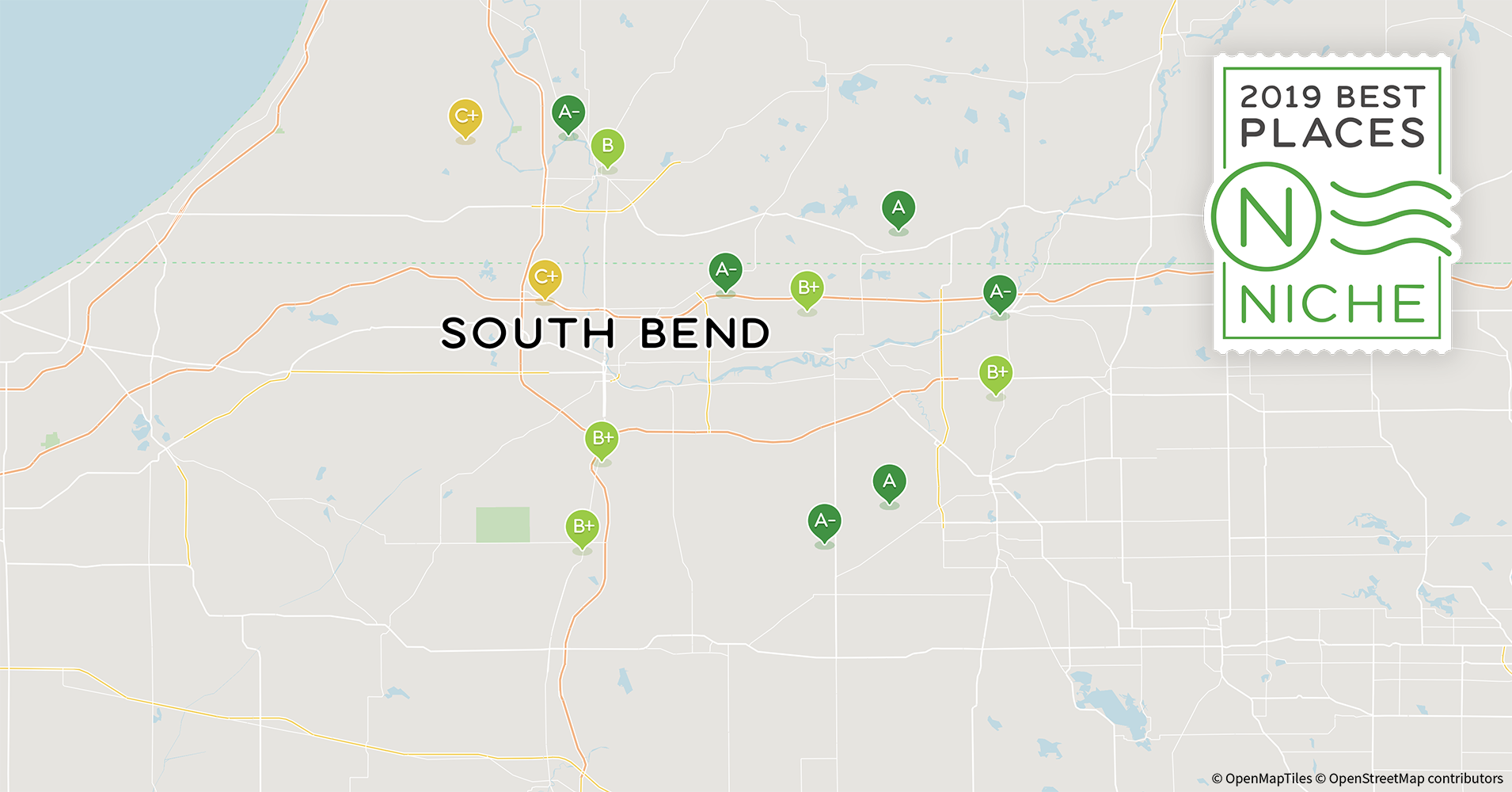 South Bend Indiana Zip Code Map.2019 Best Places To Live In The South Bend Area Niche