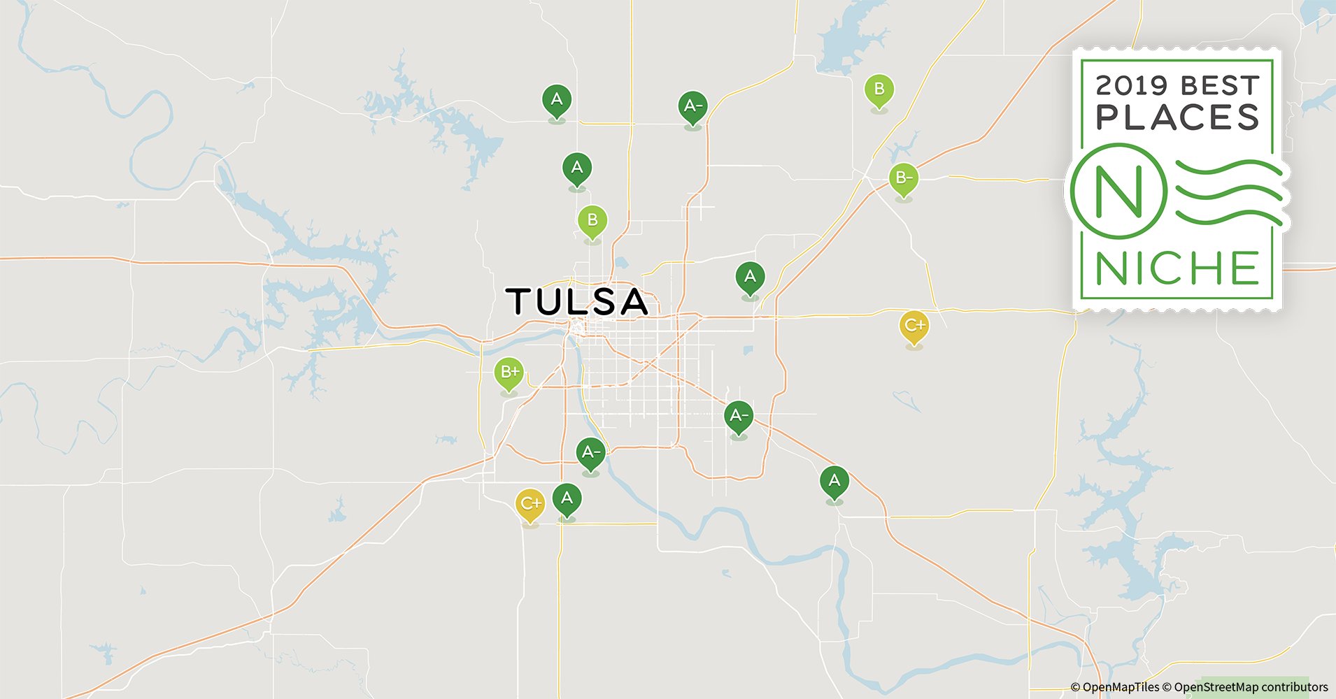 2019 Safe Suburbs Of Tulsa Area Niche