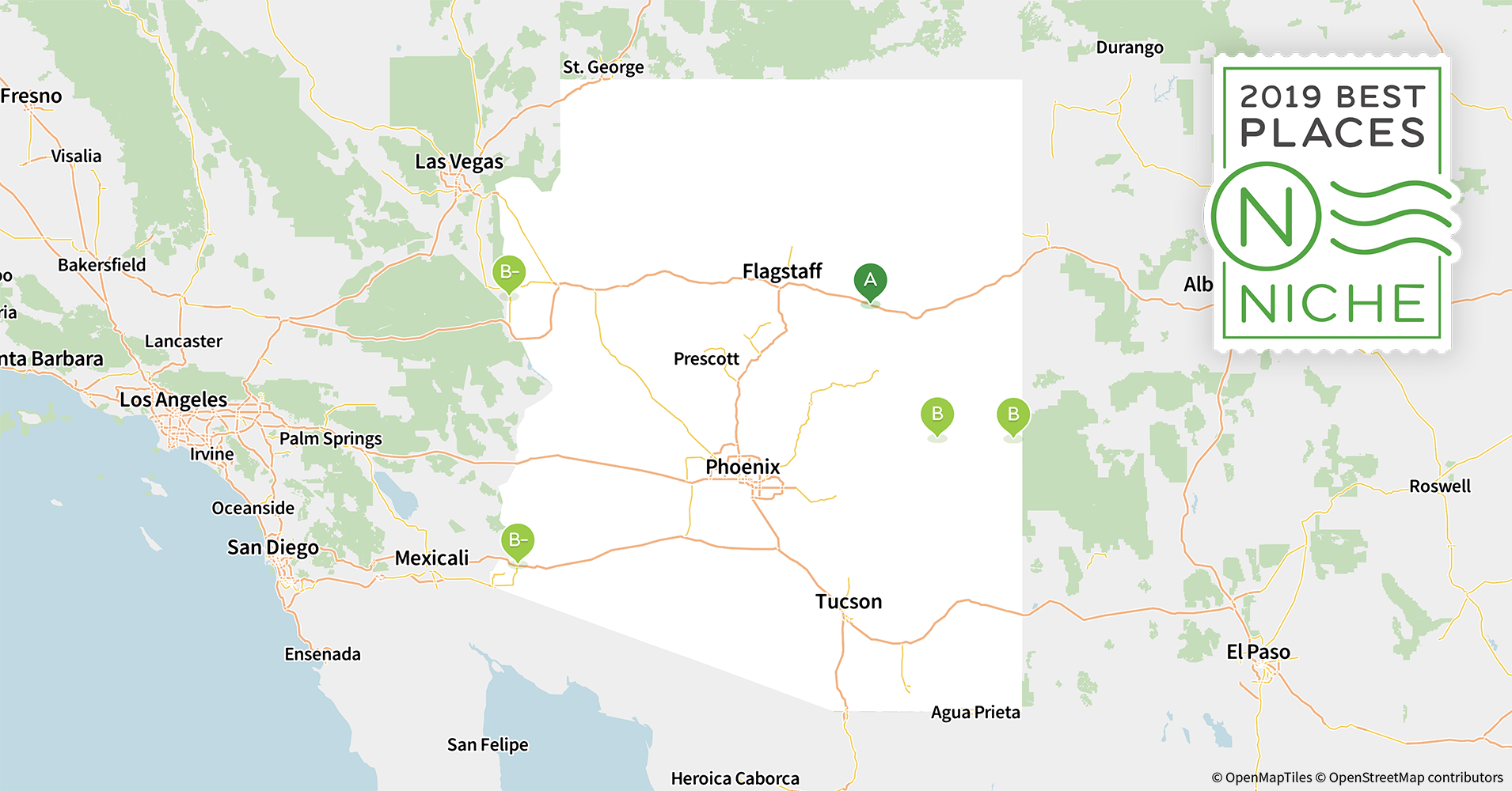 Map Of Arizona Towns And Cities.2019 Best Places To Live In Arizona Niche