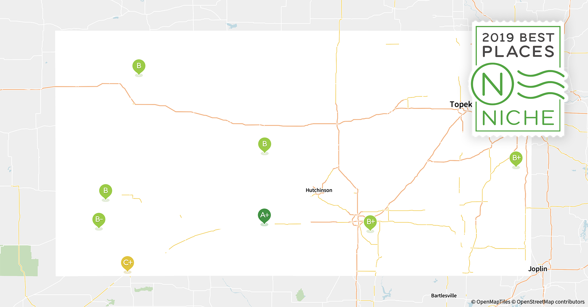 Hutchinson Ks Zip Code Map.2019 Best Places To Live In Kansas Niche