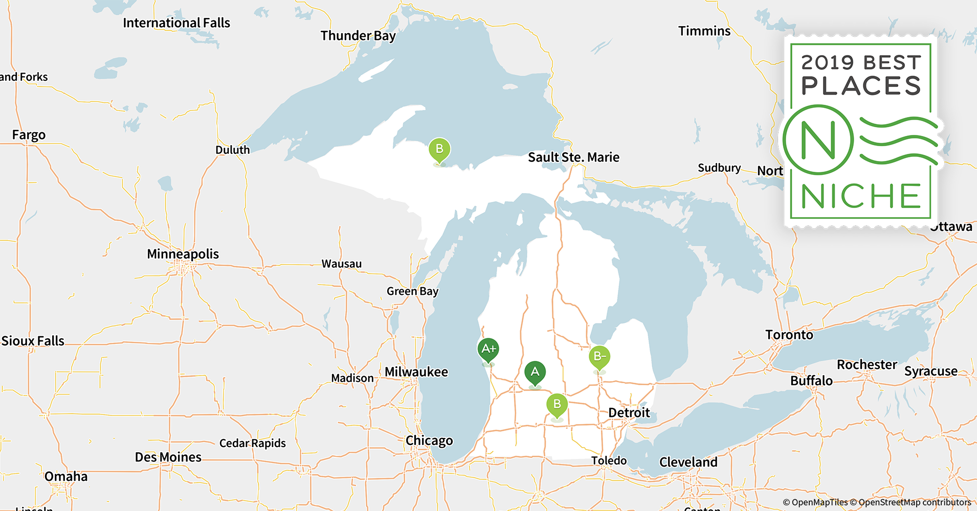 2019 Best Places to Live in Michigan - Niche Michigan Map Of Cities on map of wisconsin and minnesota, map of michigan states, map of cass city michigan, map of clarkston michigan, map of lansing michigan, map of michigan counties, map of central michigan, map of indiana and michigan, map of michigan highways, upper michigan map cities, map of ohio, map of south east michigan, map of michigan showing canton, map of michigan school districts, map of detroit, map of u p michigan, map of lake michigan, map of westland michigan, map of hudsonville michigan, map of jackson michigan,