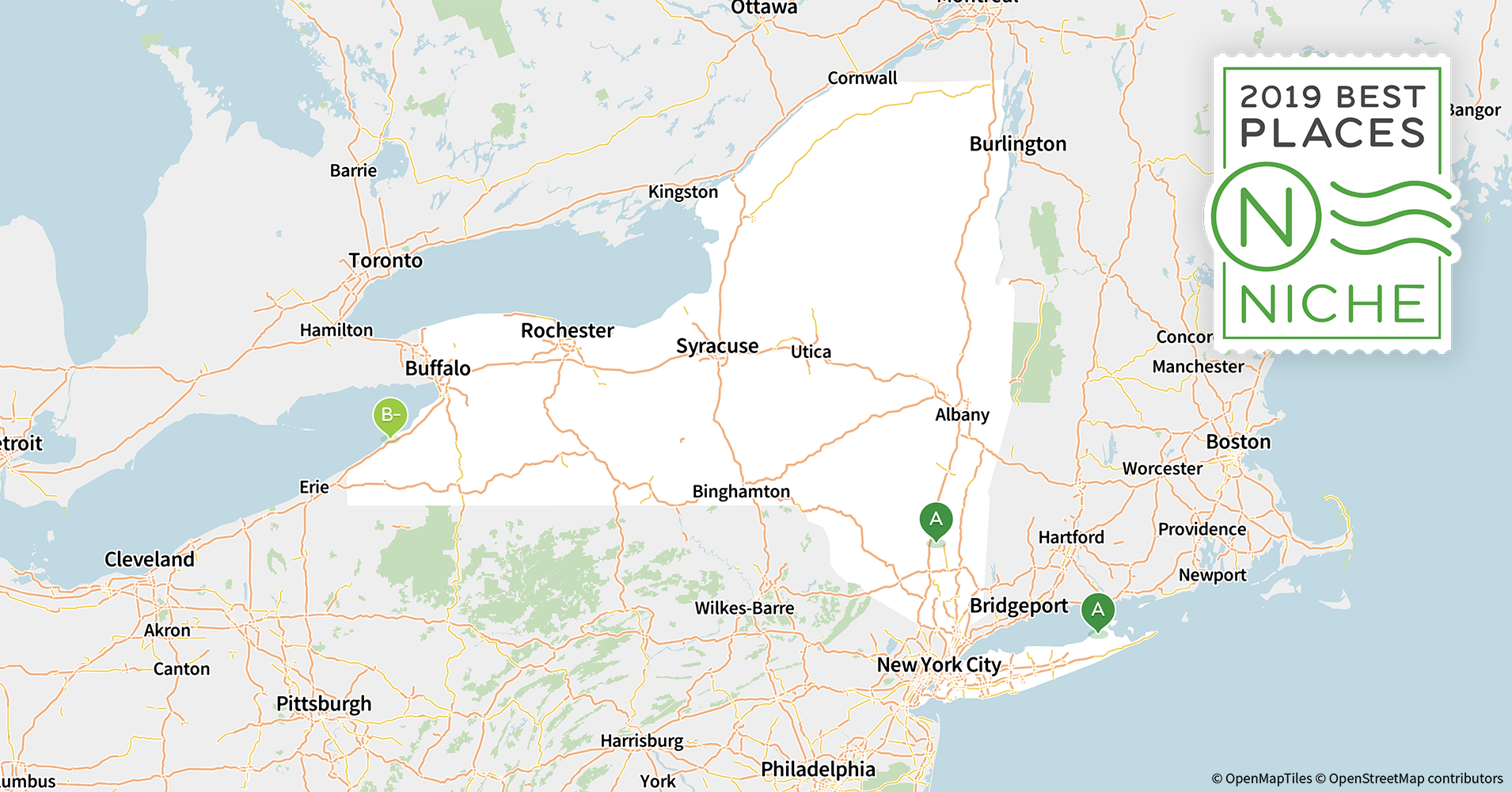 Map Of Cities In New York State.2019 Best Places To Live In New York Niche