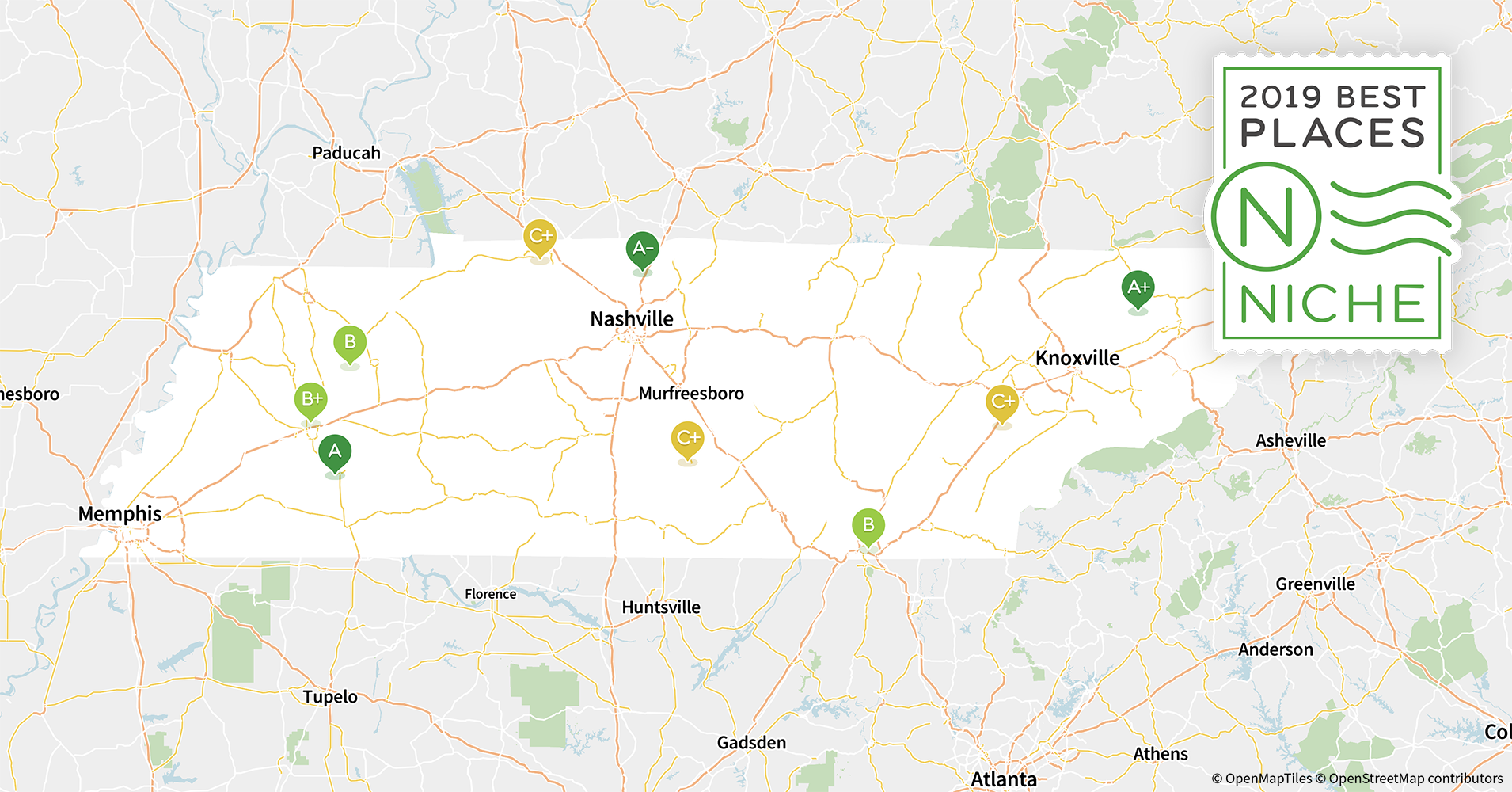 2019 Best Places to Live in Tennessee - Niche Knoxville On Map Of Usa on phoenix usa map, rochester usa map, allentown usa map, macon usa map, nashville usa map, wichita usa map, williamsburg usa map, seattle usa map, franklin usa map, atlanta usa map, springfield usa map, charlotte usa map, cheyenne usa map, cincinnati usa map, anchorage usa map, smoky mountains usa map, milwaukee usa map, columbia usa map, auburn usa map, pueblo usa map,