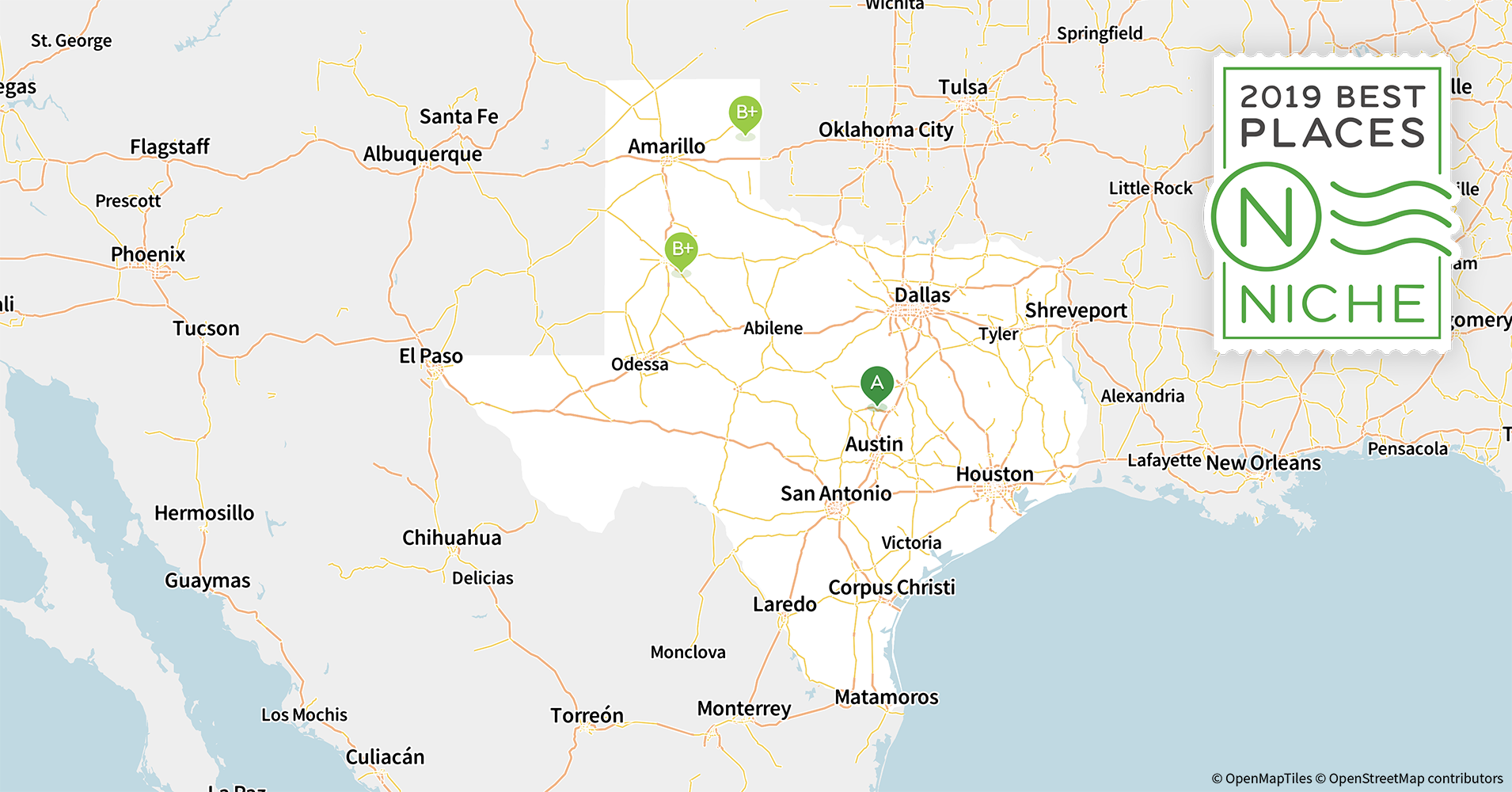 Map Of Major Cities In Texas.2019 Best Places To Live In Texas Niche