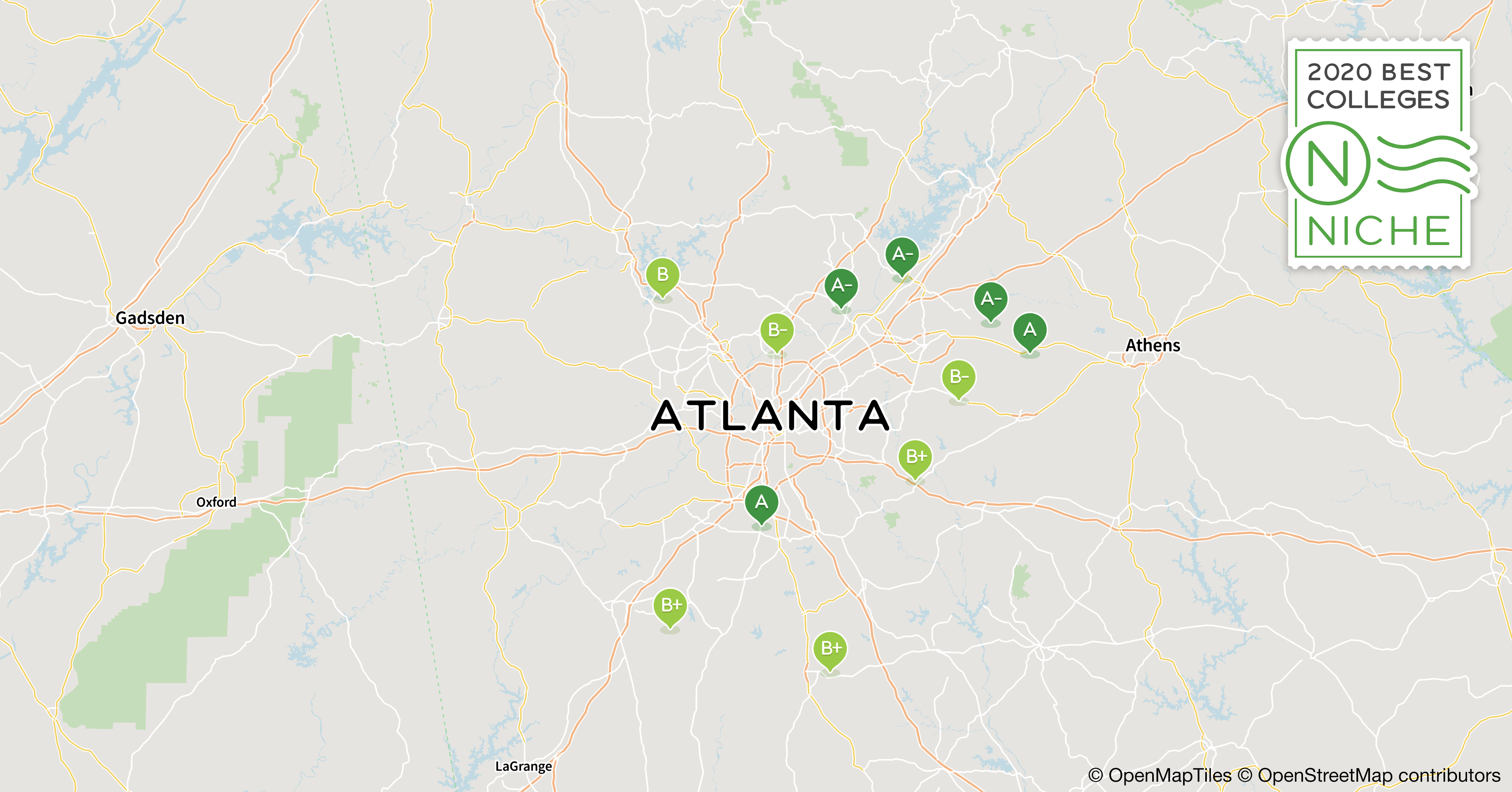 Map Of Colleges In Georgia.2020 Best Colleges In Atlanta Area Niche