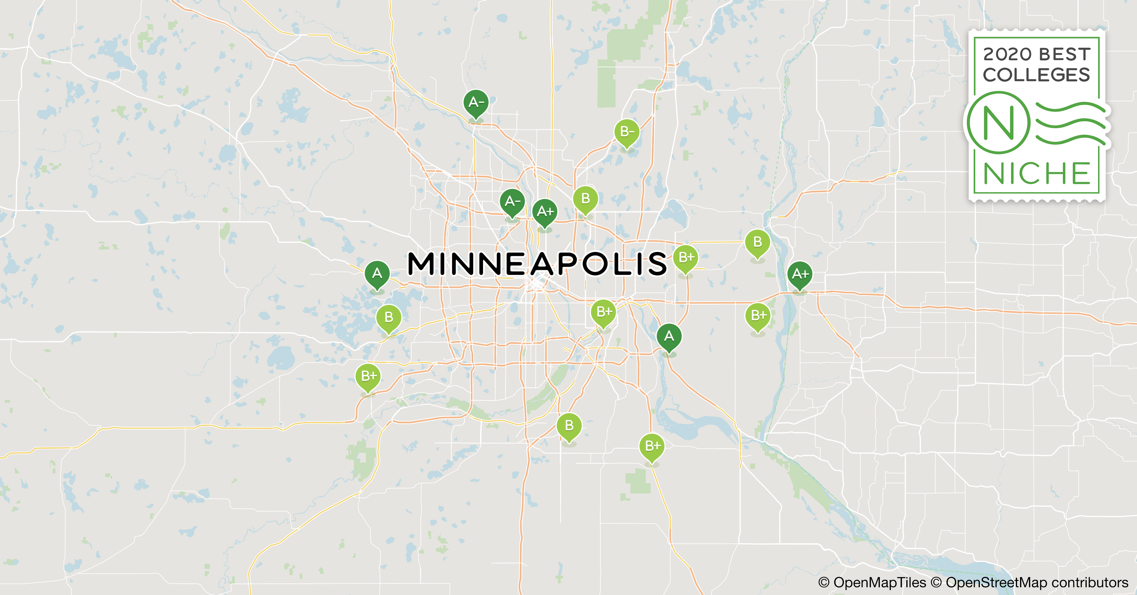 2020 Best Colleges in Minneapolis-St. Paul Area - Niche Stereotype Maps Of Minneapolis on minneapolis poverty map, minneapolis community map, minneapolis race map, minneapolis school map,