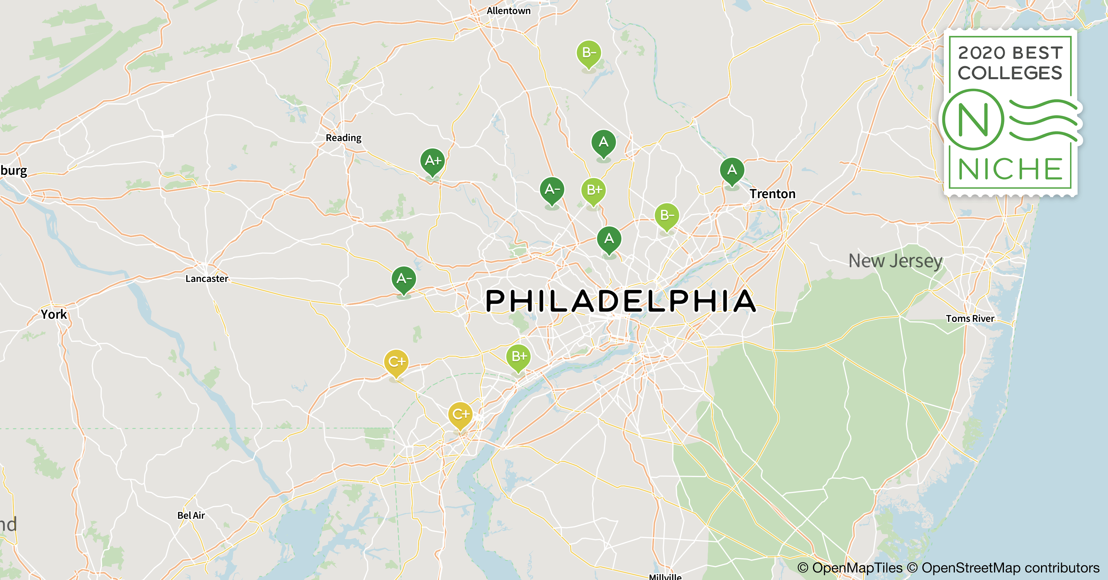 map of philadelphia colleges 2020 Best Colleges For Information Technology In Philadelphia Area Niche map of philadelphia colleges