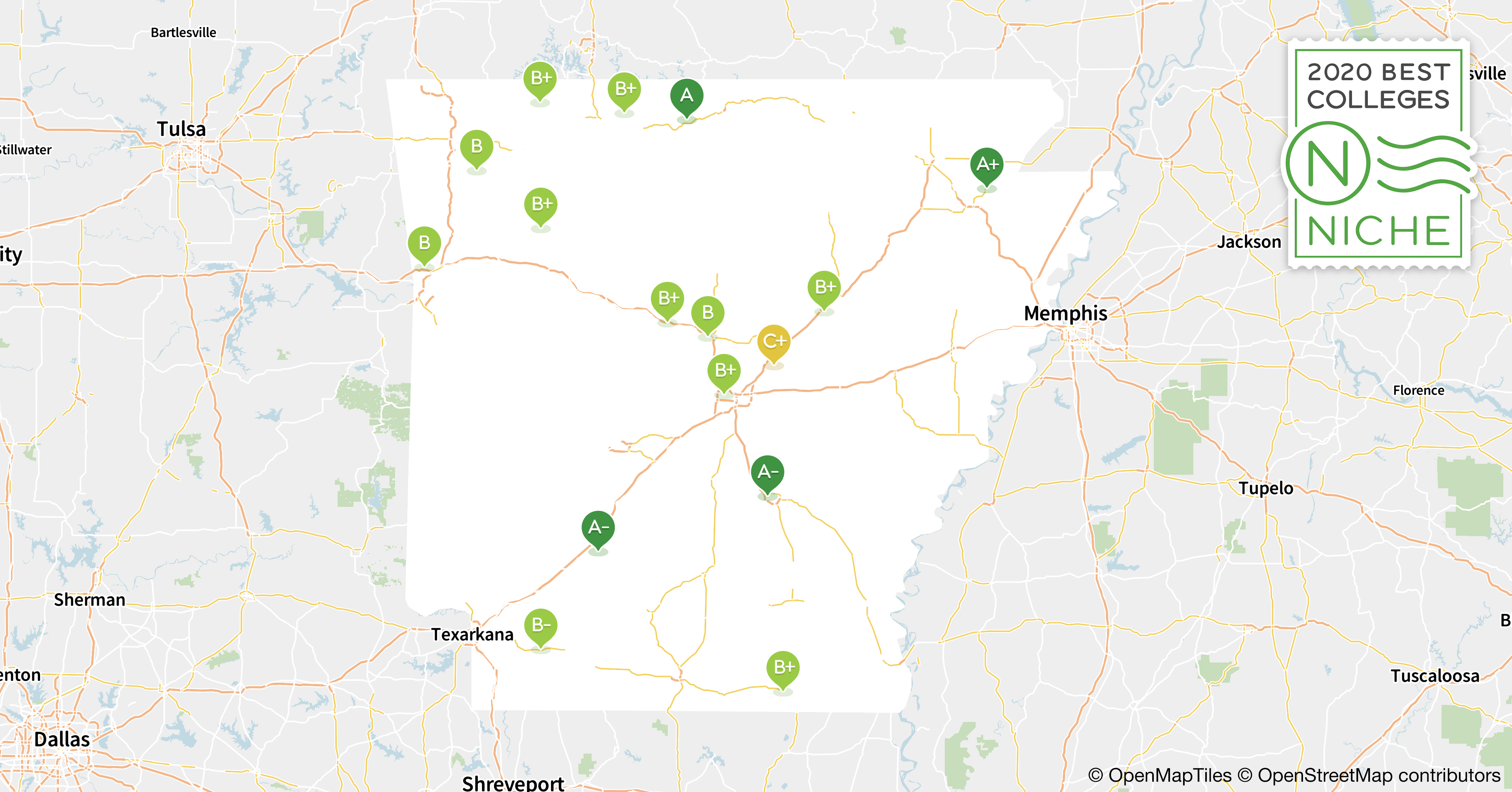 map of colleges in arkansas 2020 Best Colleges In Arkansas Niche map of colleges in arkansas