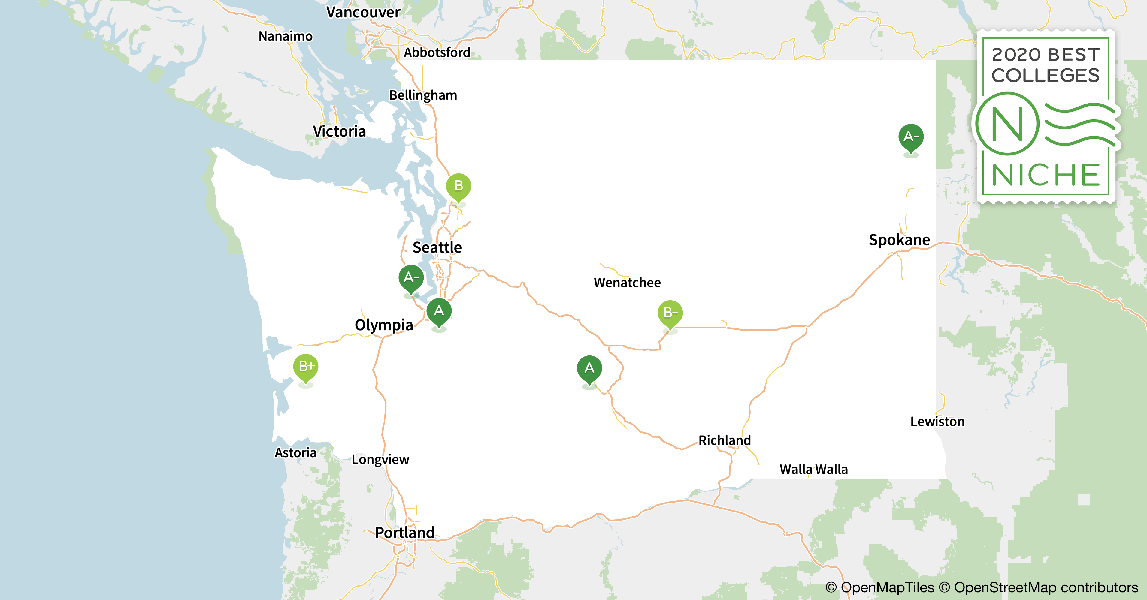 2020 Best Colleges in Washington - Niche I Map Washington State on route 90 map washington, interstate 90 map washington, seattle map washington, i-405 map washington, i-5 map washington, highway 20 map washington, i-90 wamap, interstate 5 map washington, i90 map washington,