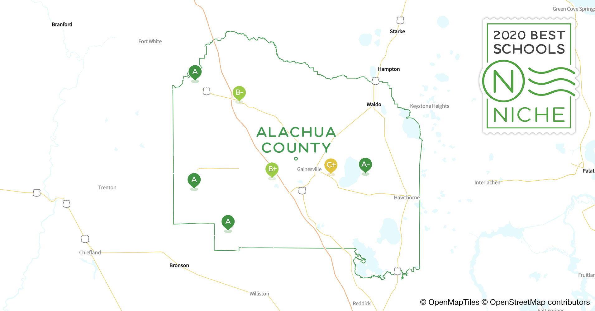 2020 Best Public High s in Alachua County, FL - Niche Map Of Alachua County on map of volusia county, map of pasco county, map of okaloosa county, map of polk county, map of simpson county, map of wauchula county, map of lafayette county, map of marion county, map of st. lucie county, map of manatee county, map of duval county, map of gadsden county, map of dade county public schools, map of martin county, map of glades county, map of addison county, map of washington county, map of jackson county, map of st. johns county, map of appanoose county,