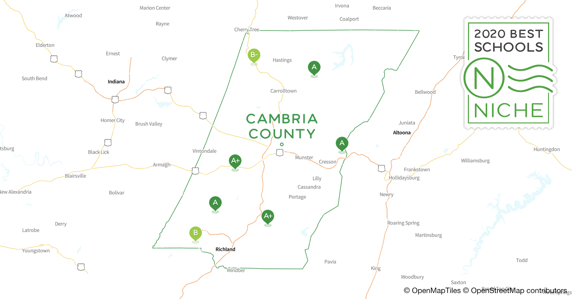 Districts in Cambria County, PA - Niche on fallingwater pa map, ghost town trail pa map, cambria city map, chester county, red land pa map, summerhill pa map, bucks county, lancaster county, mt. hermon map, johnstown region map, somerset county, mount davis pa map, delaware county, northern pa road map, erie county, jefferson county, pennsylvania map, white township pa map, chester co pa map, bedford county, cambria city pa, indiana county, schuylkill haven pa map, berks county interactive map, blair county, allegheny county, westmoreland county, cambria township pa map, butler county, beaver county, fulton county, south fork pa map, bucks co pa map, northern virginia dc maryland map, fayette county, crawford county, franklin county, cumberland county, brownstown pa map,