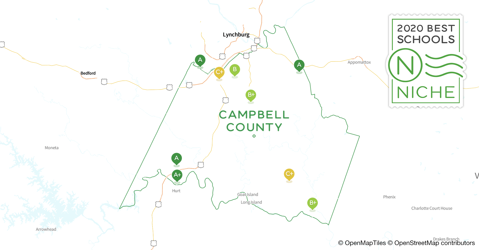 2020 Best Public Elementary Schools in Campbell County, VA