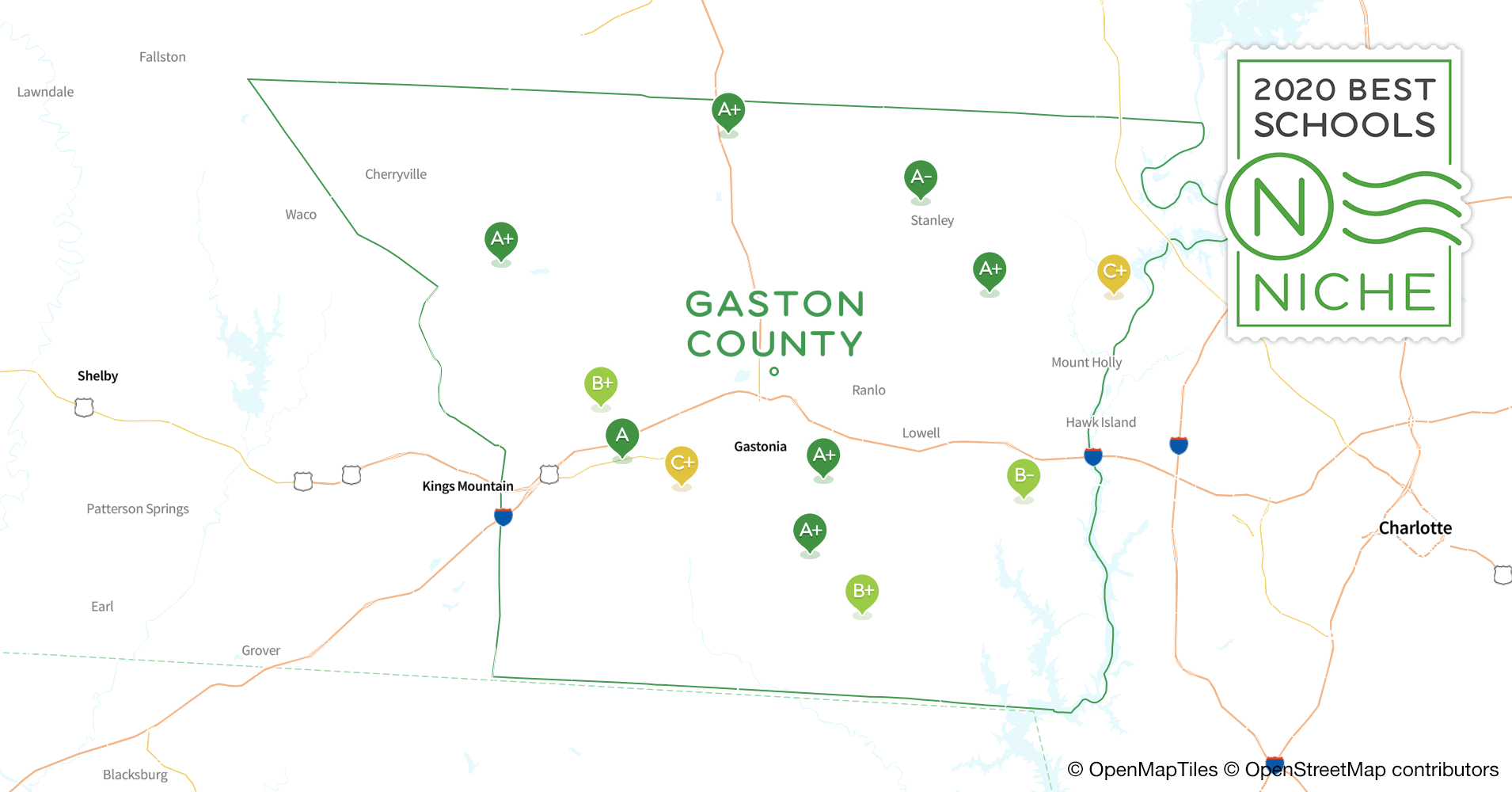 2020 Best Public High s in Gaston County, NC - Niche Gaston County Nc Map on mecklenburg nc map, gastonia nc map, ranlo nc map, north carolina nc map, mountain view nc map, albemarle nc map, north carolina river basin map, pickens county sc map, mooresville nc map, yadkin river nc map, mountain island lake nc map, wadesboro nc map, lake gaston map, gastonia north carolina map, hidden valley nc map, united states nc map, charlotte nc city limits map, gastonia city map, belmont north carolina map, southwest charlotte nc map,