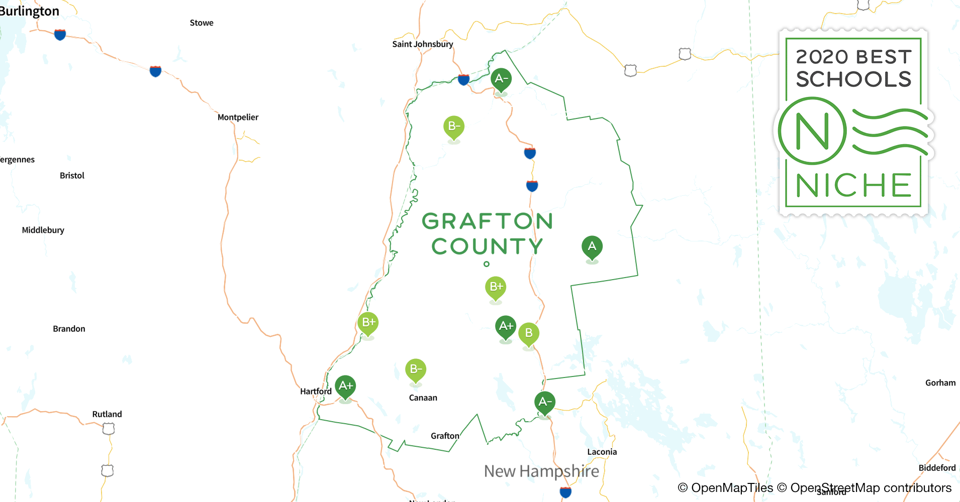 2020 Best Public Elementary Schools in Grafton County, NH
