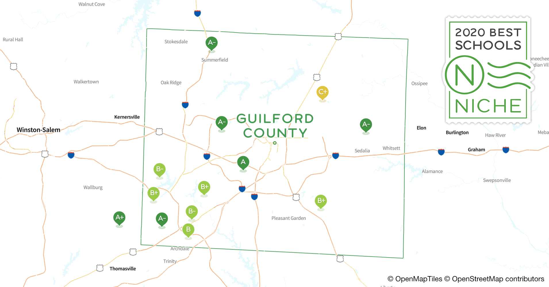 2020 Best Public Elementary Schools in Guilford County, NC